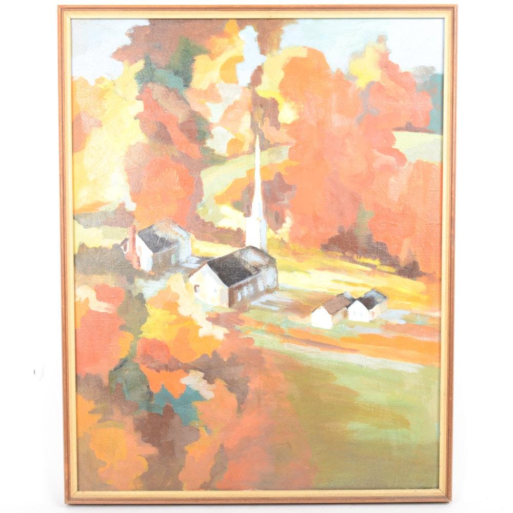 Cathy Van Voorhis Oil on Canvas Landscape Painting