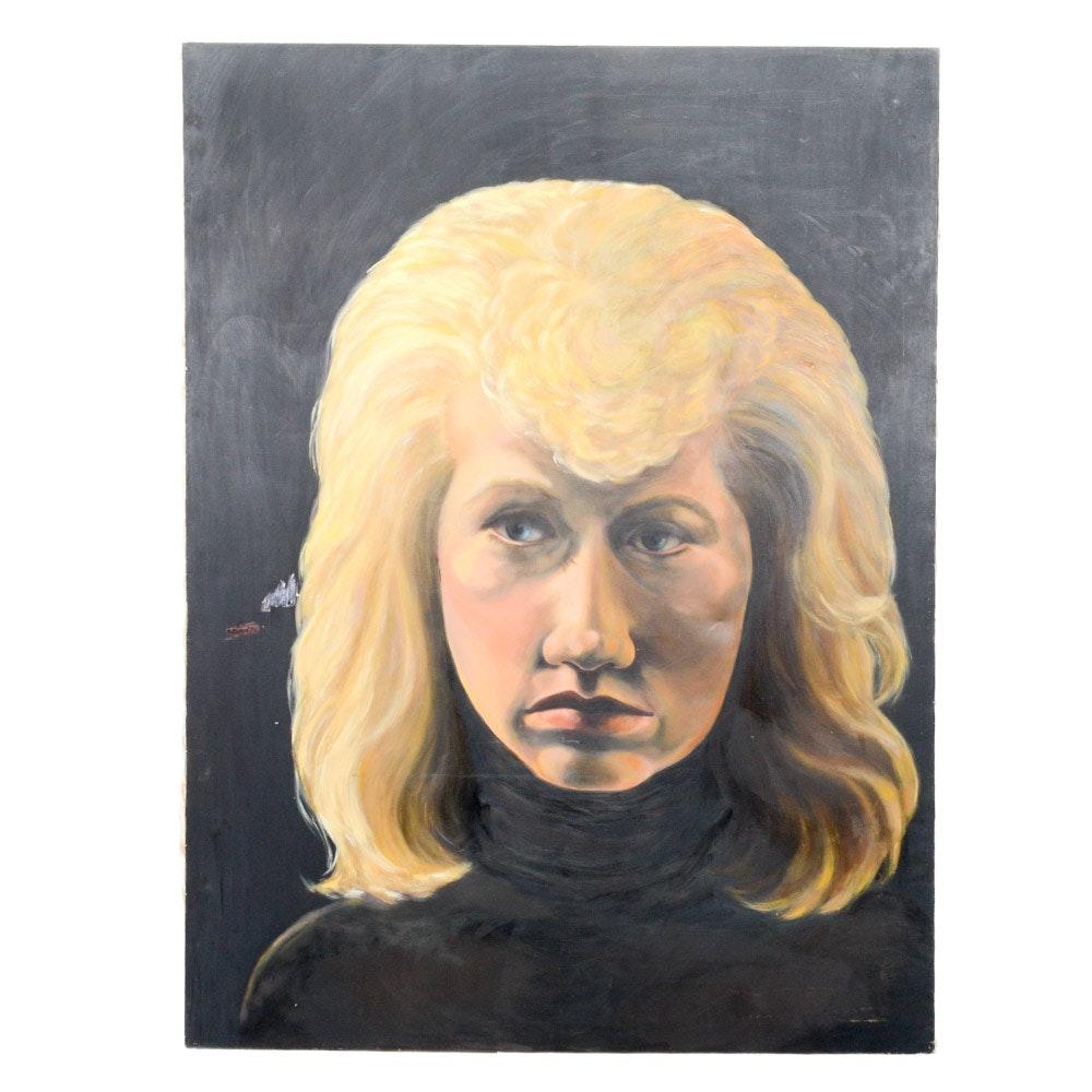 Large Scale Oil on Canvas Portrait