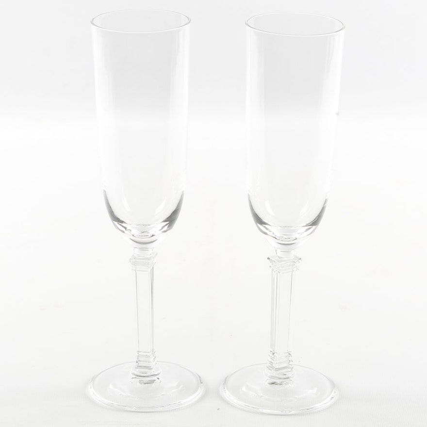 Tiffany Co Crystal Toasting Flutes 1x1
