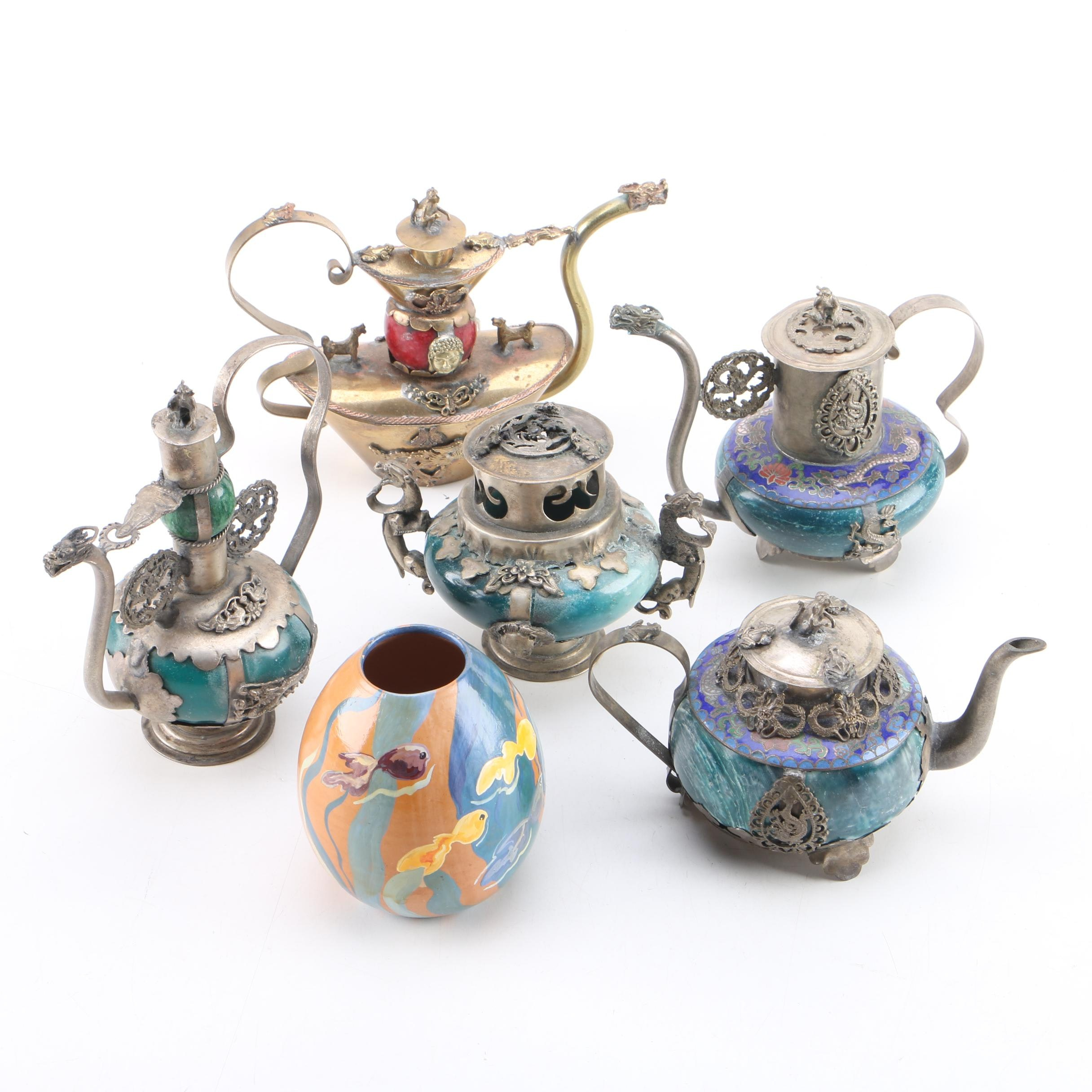 Chinese and Tibetan Incense Burners and Teapots