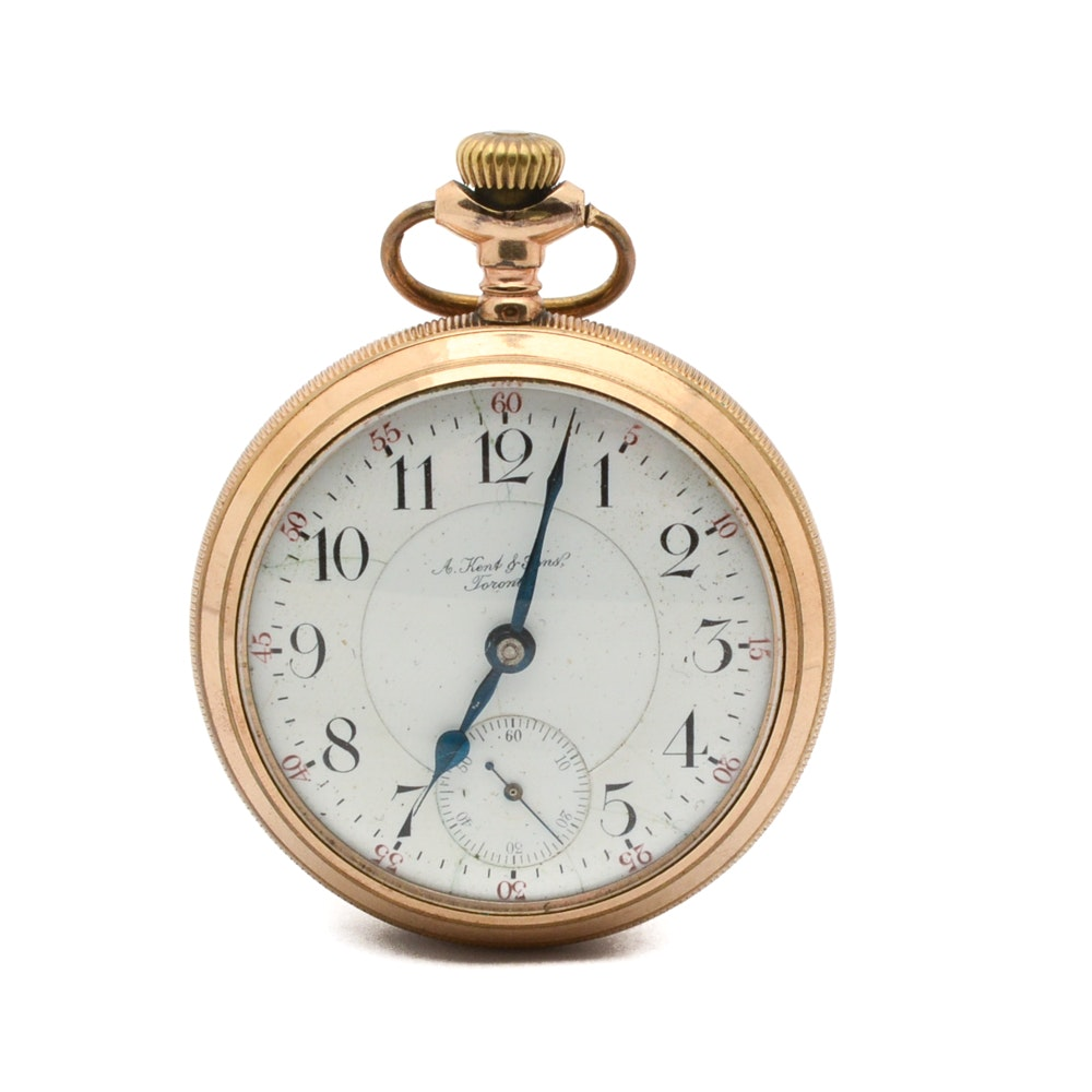A. Kent & Sons Railroad Pocket Watch