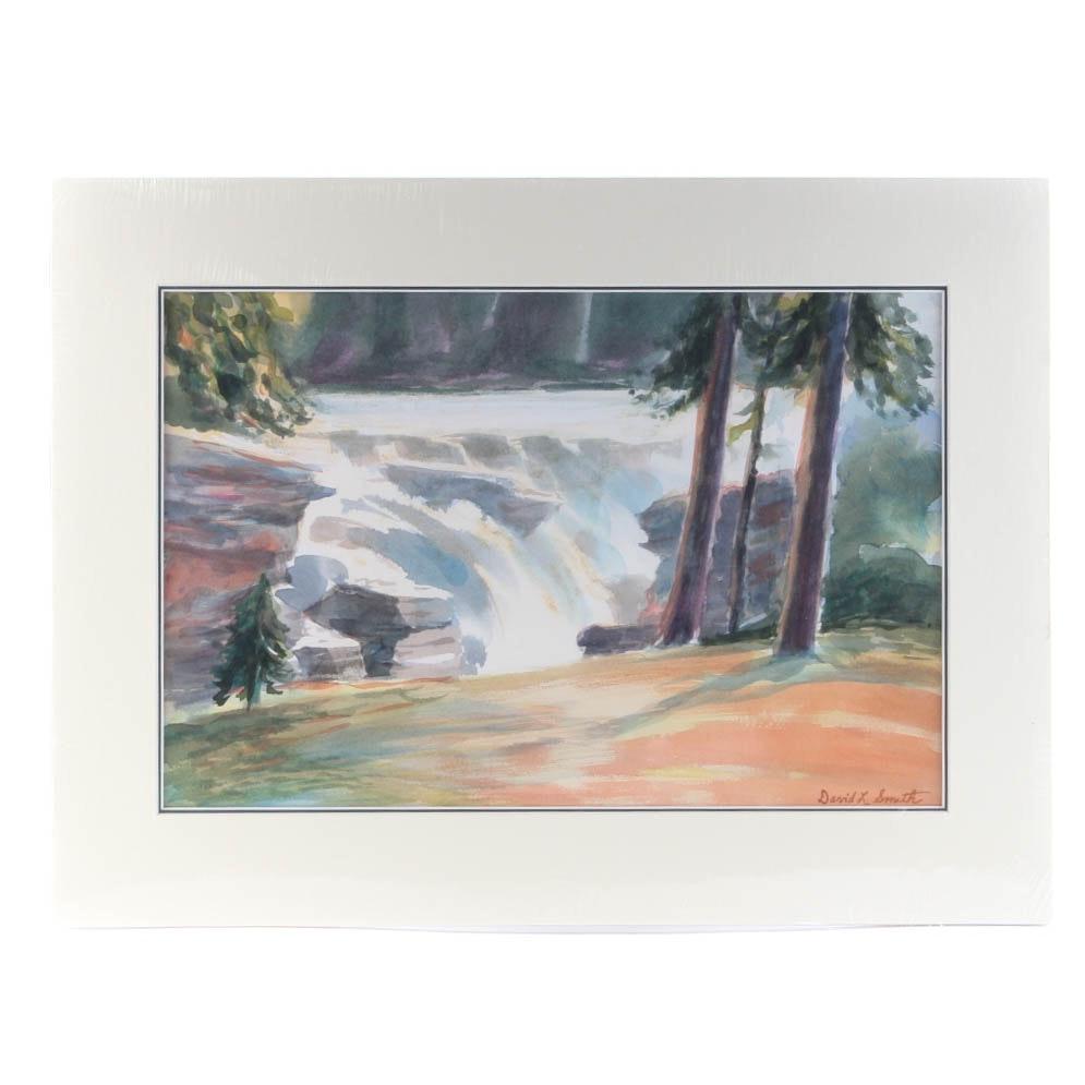 "David L. Smith Watercolor on Paper ""Landscape #44"""