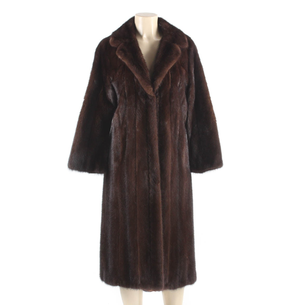 Vintage Full-Length Mahogany Mink Fur Coat