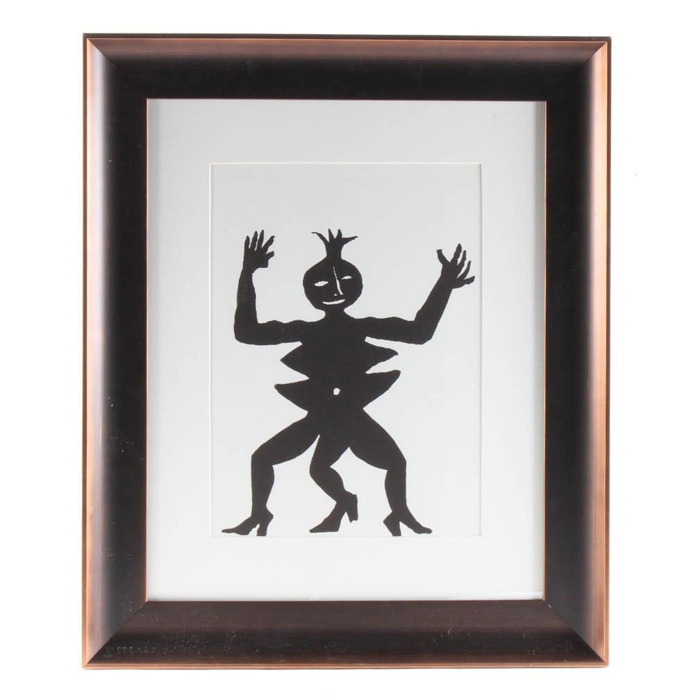 "Alexander Calder Color Lithograph ""Acrobat in Heels"""