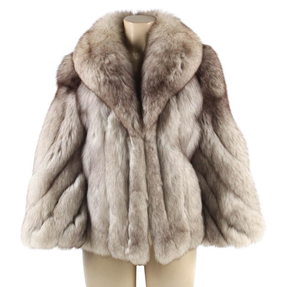 Vintage Blue Fox Jacket