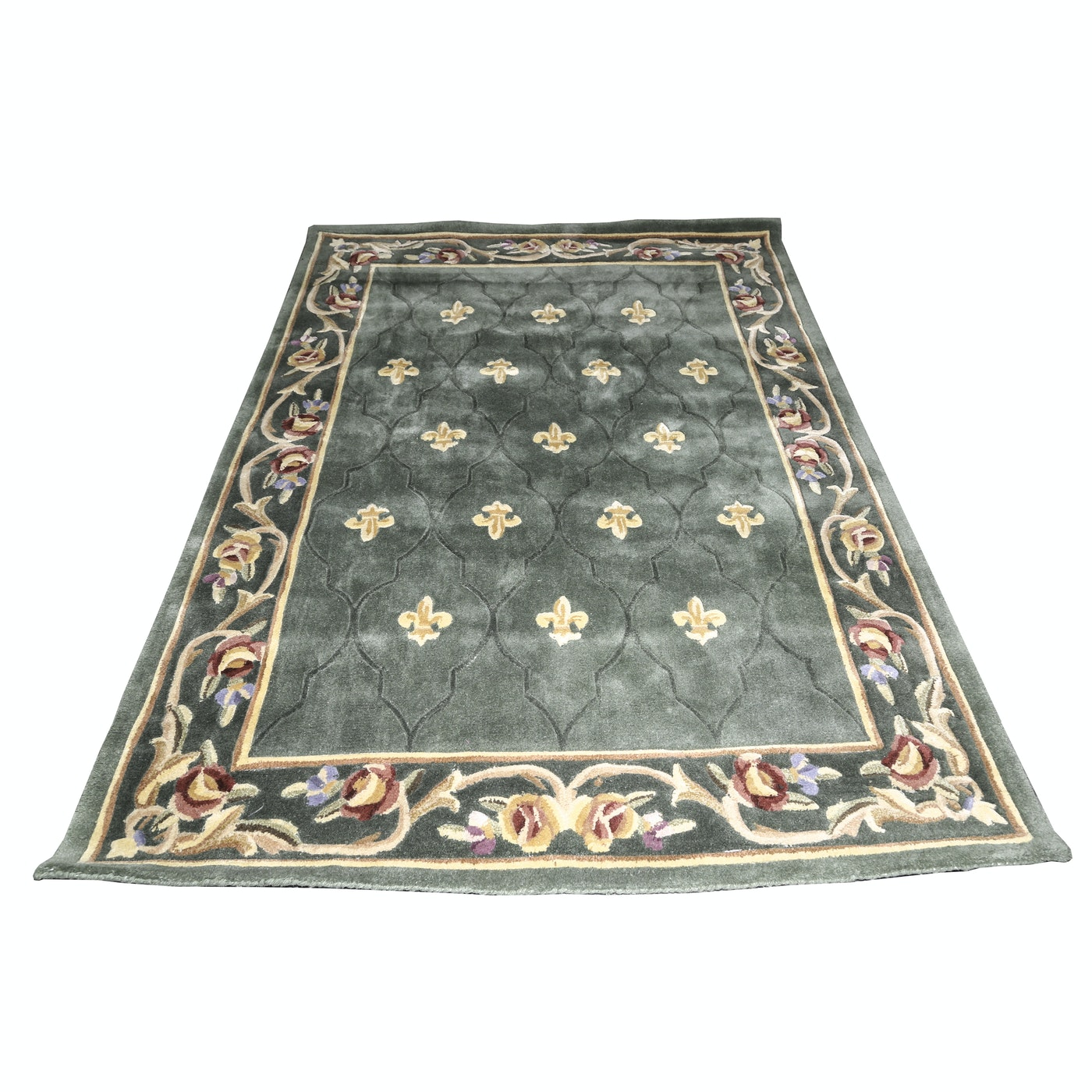 Royal Palace Tufted Wool Area Rug Ebth