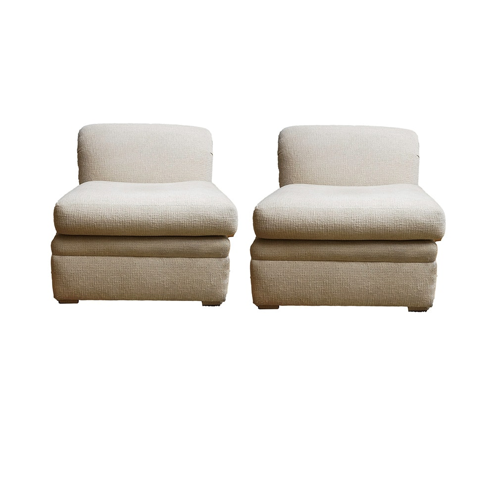 Pair of Armless Accent Chairs