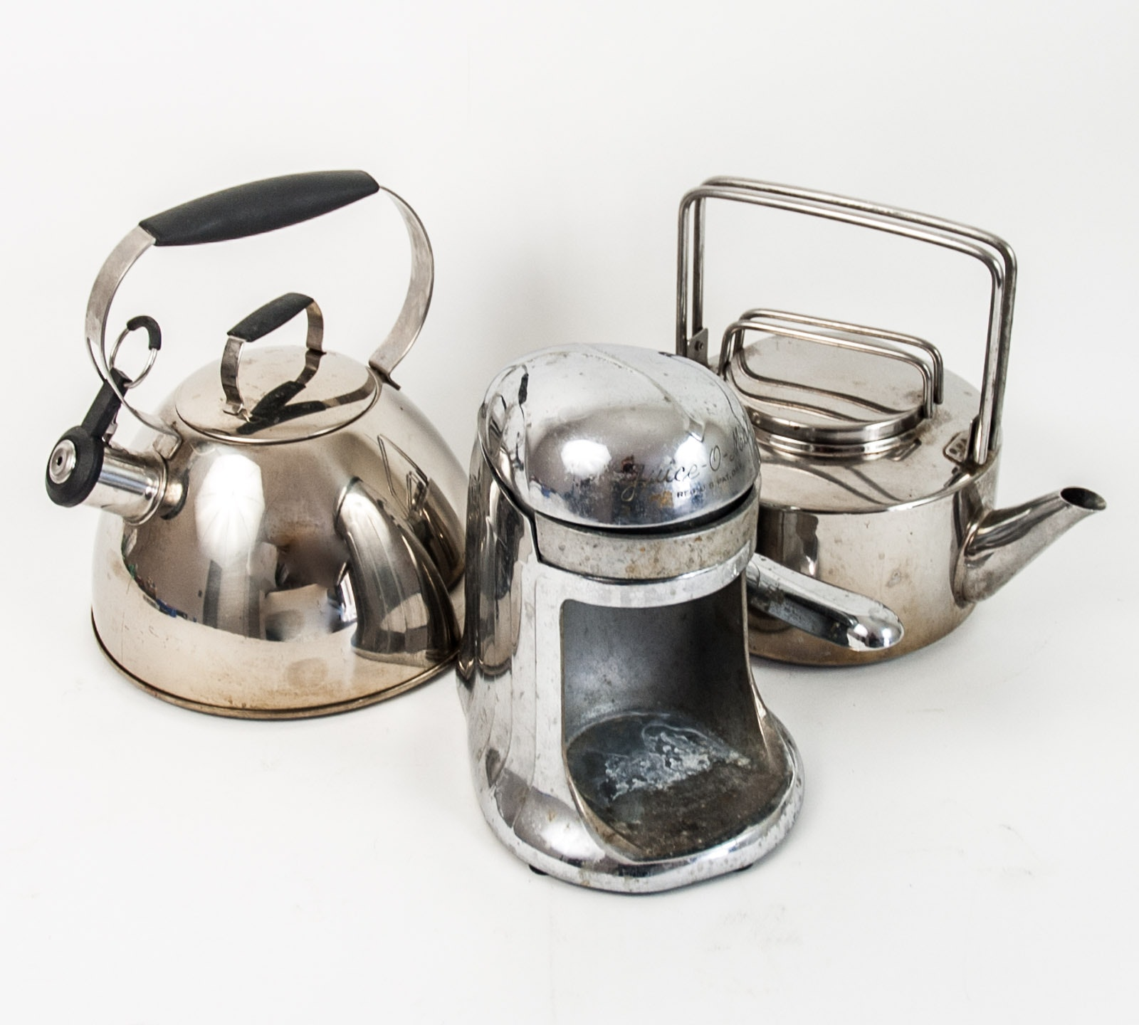 Grouping of Chrome Kitchenware