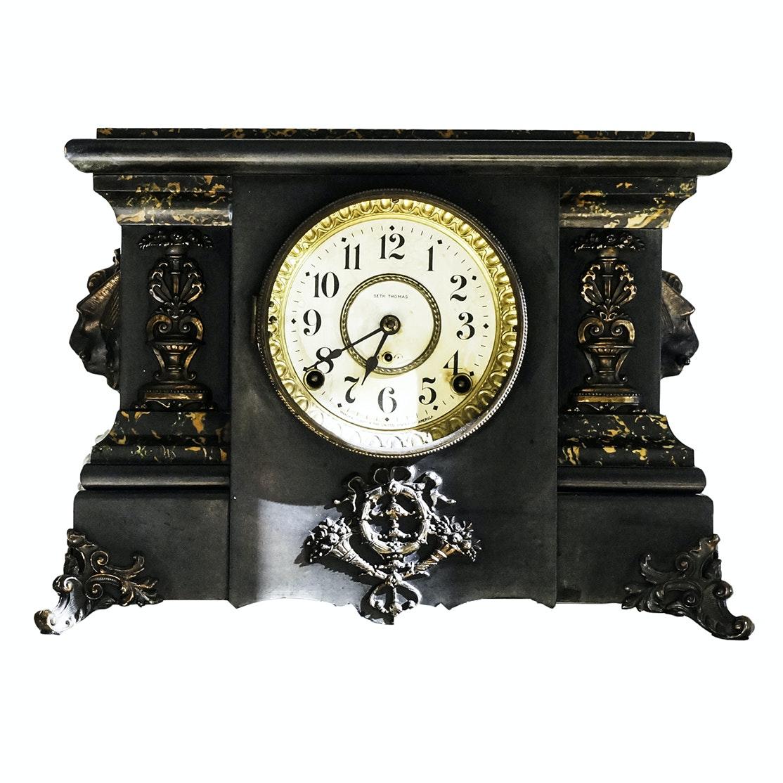 Antique Seth Thomas Pillar Mantel Clock