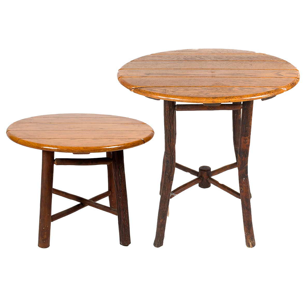 Old Hickory Rustic Table and Small Side Table