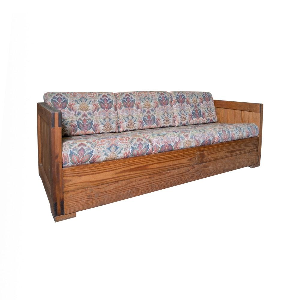 Vintage Pine Box Sofa