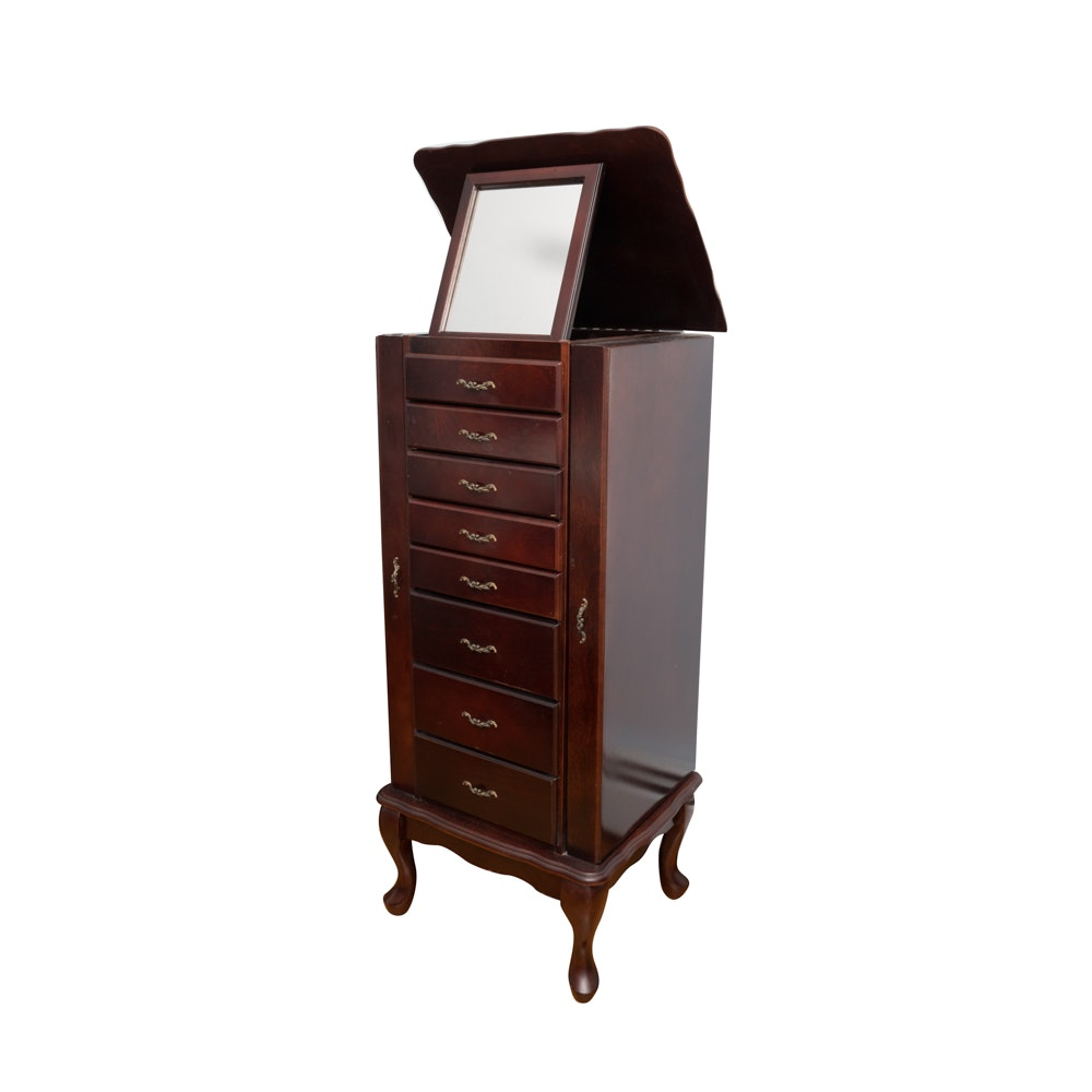 Queen Anne Style Jewelry Armoire by Powell