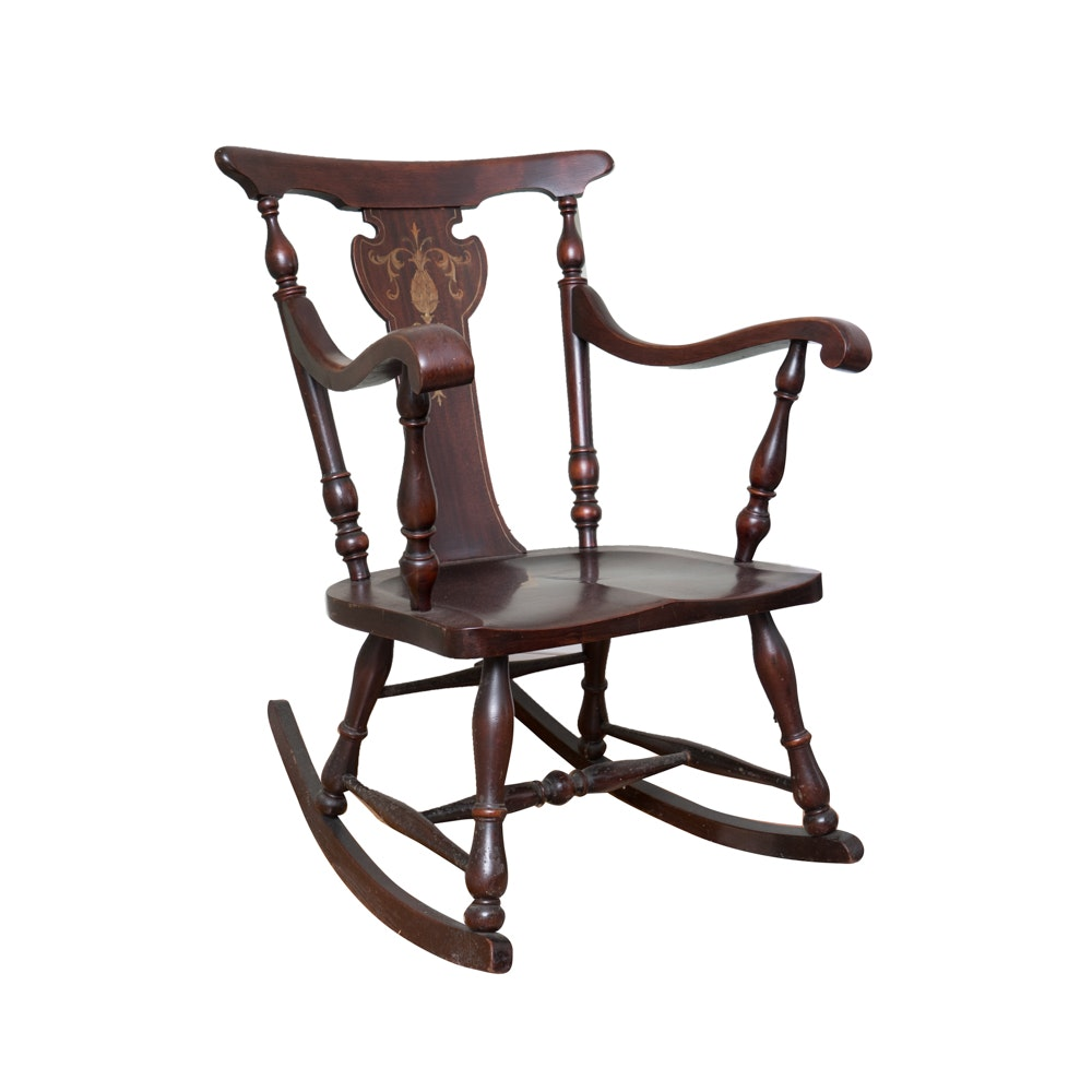 Sheraton Style Rocking Chair