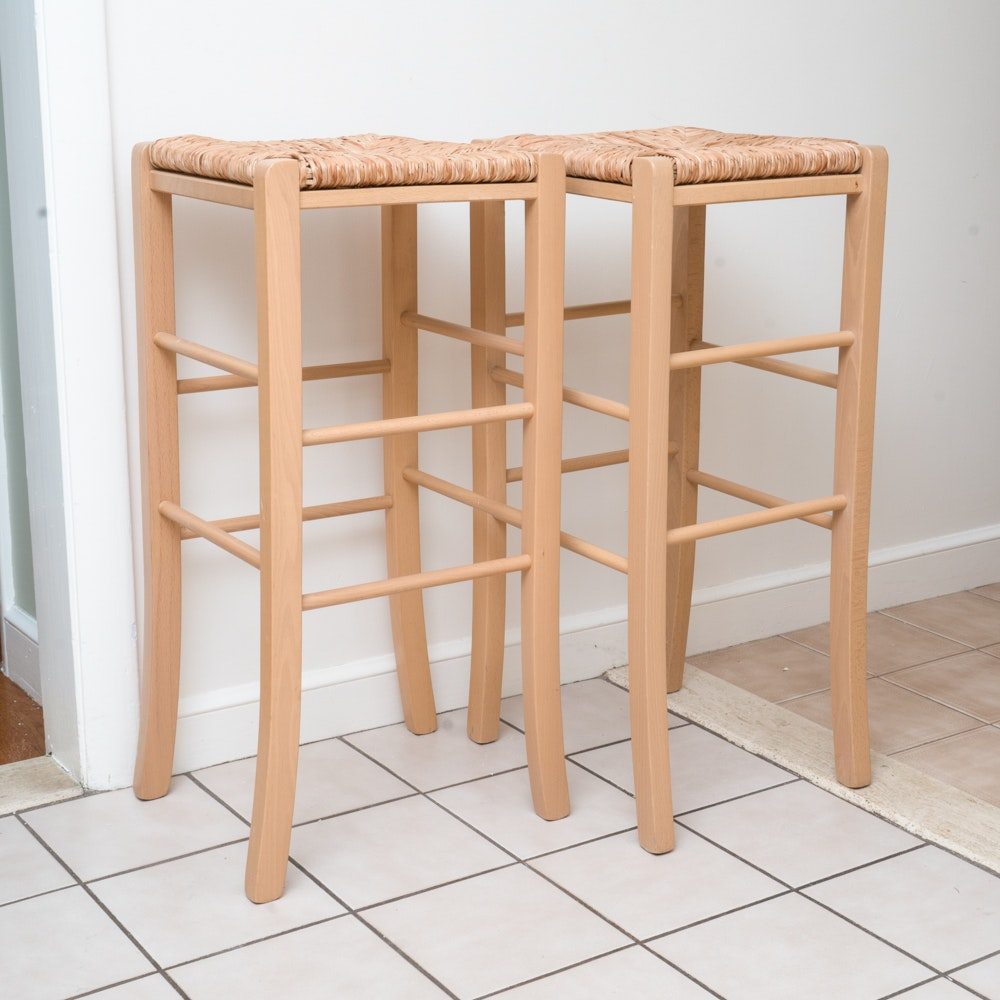 Pair of Farmhouse Style Counter Stools