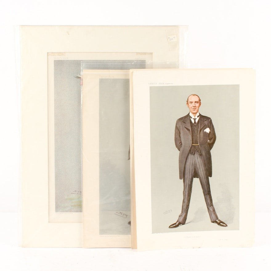 "Leslie Ward ""SPY"" Chromolithographs on Paper from Vanity Fair"
