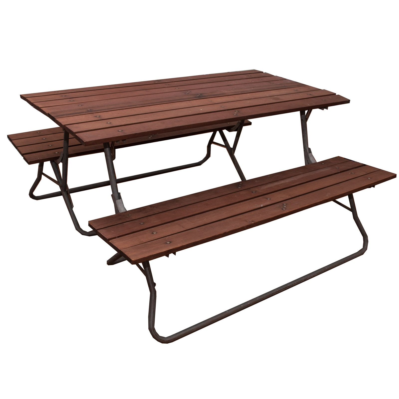 Two Benches Convert To Picnic Table ...