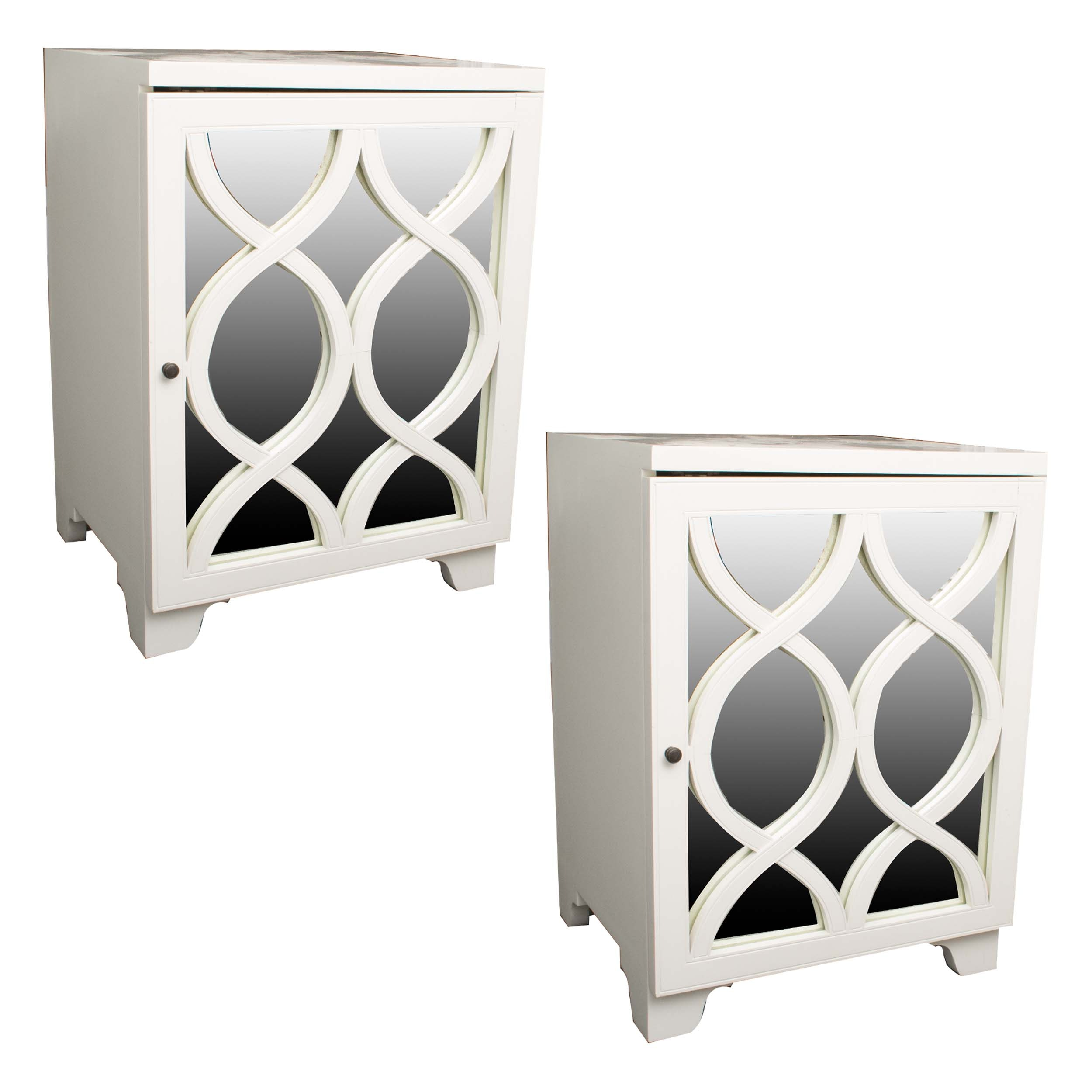 Contemporary White Side Tables