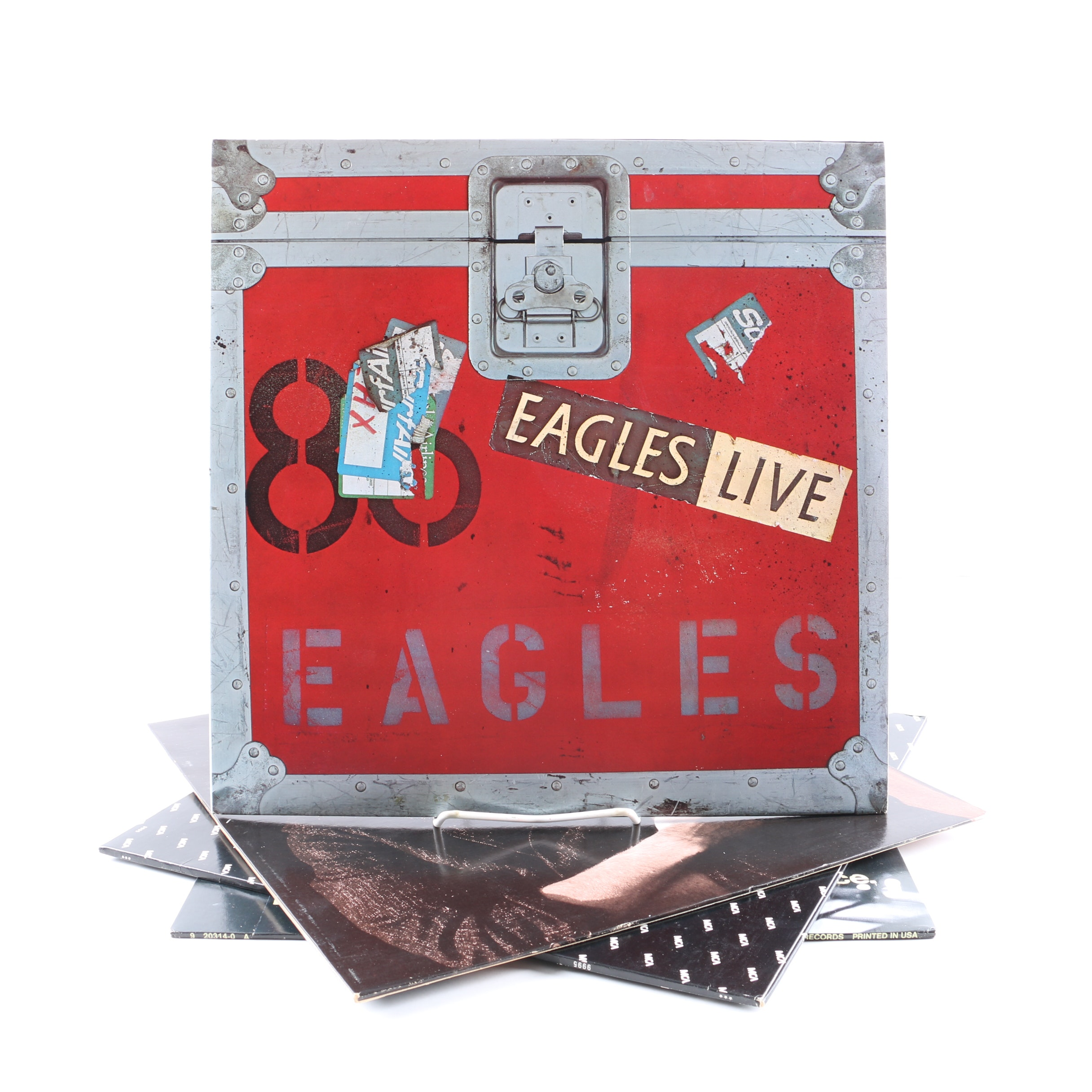 """Eagles, Don Henley, Glenn Frey LPs and 12"""" Singles Including """"The Heat Is On"""""""
