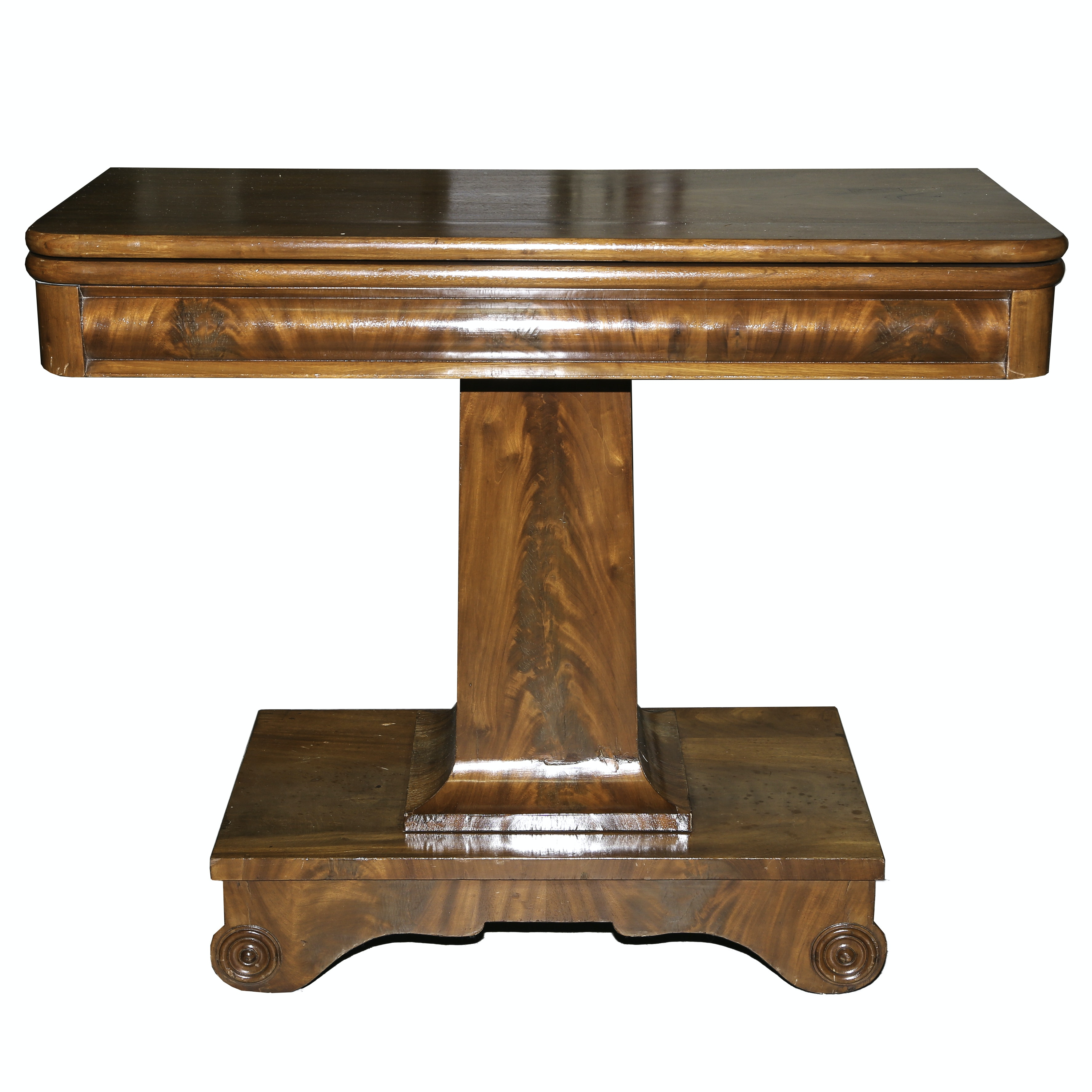 Empire Style Mahogany Flip Top Game Table ...
