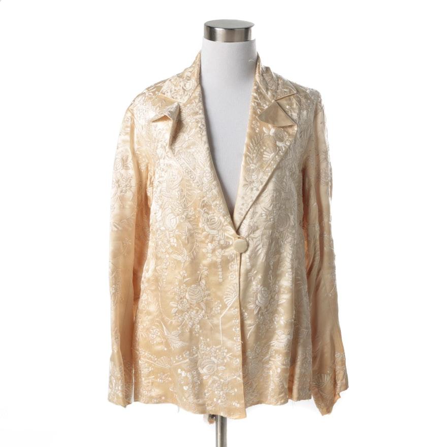 ... Silk Embroidered Bomber Jacket. Sale! 1