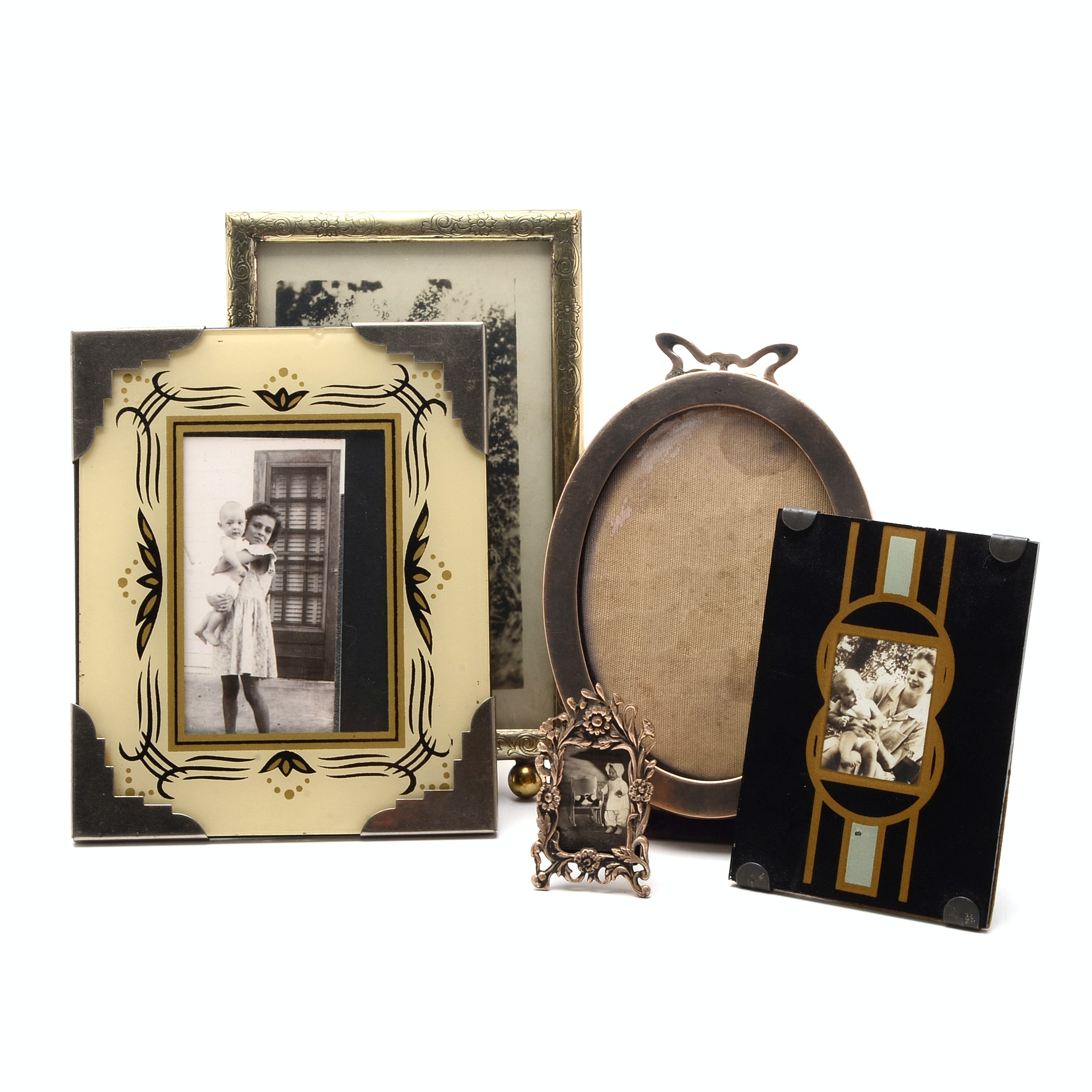 Unger Brothers Sterling Picture Frame and Other Vintage Frames