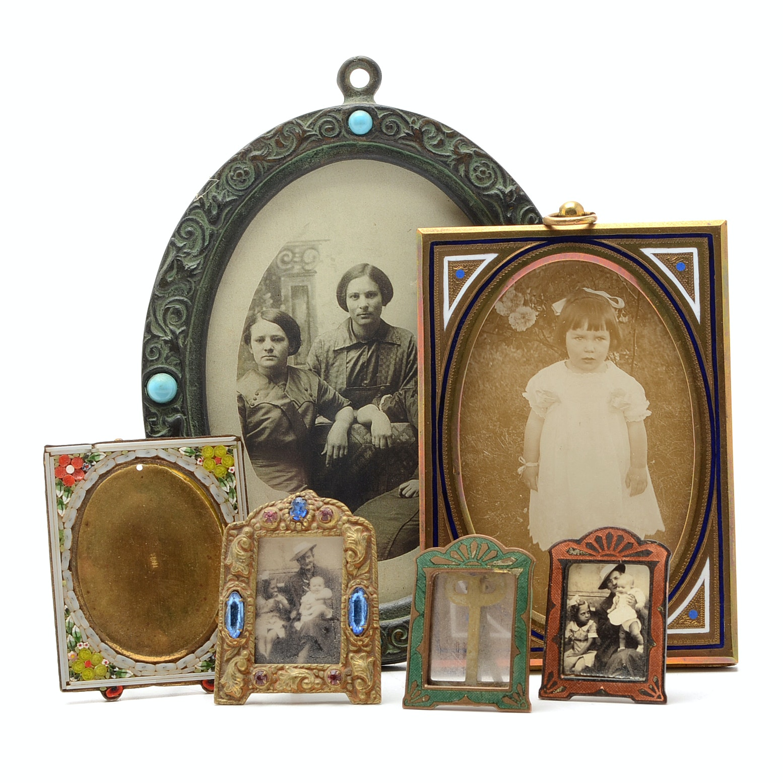 Six Vintage Picture Frames