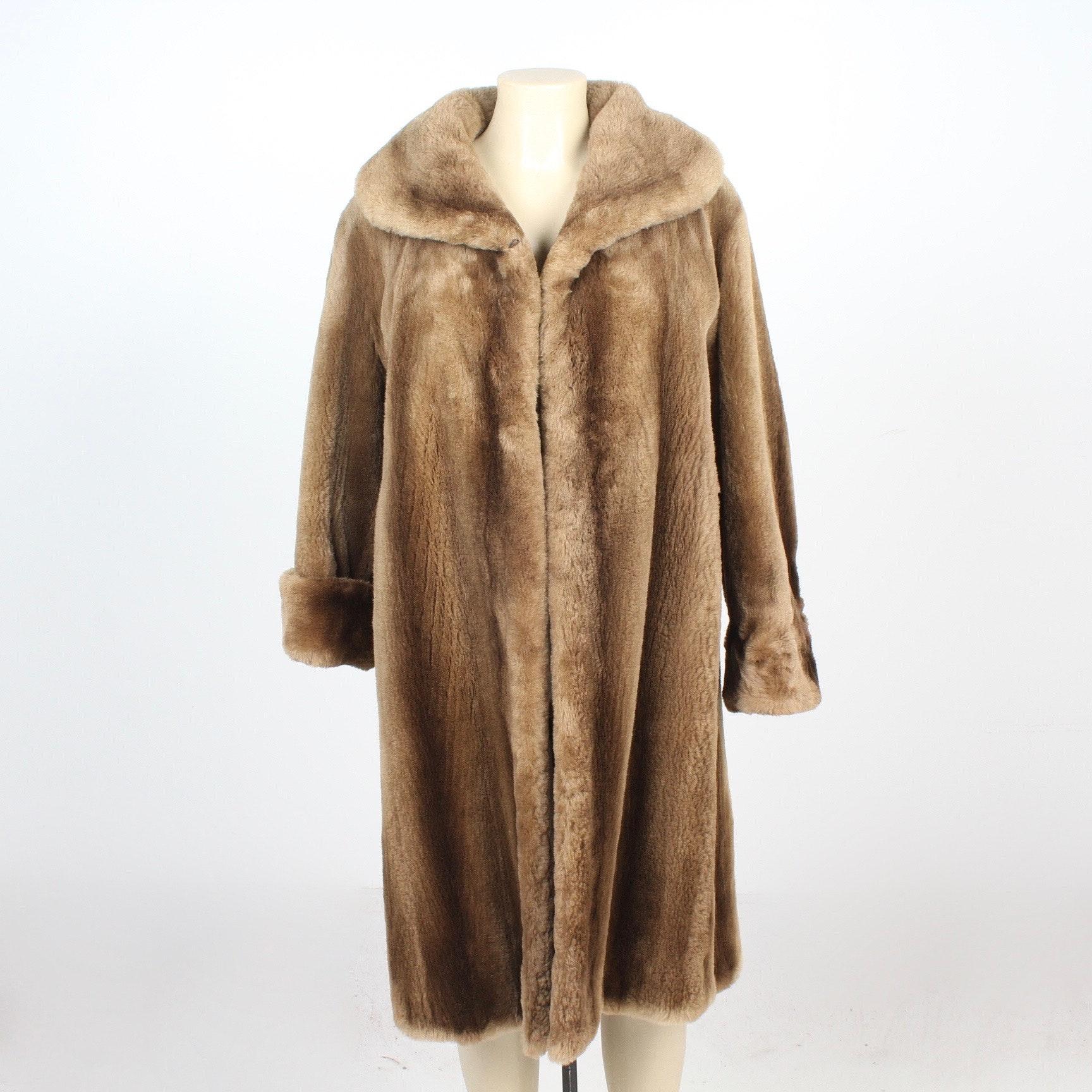 Vintage Sheared Raccoon Fur Stroller