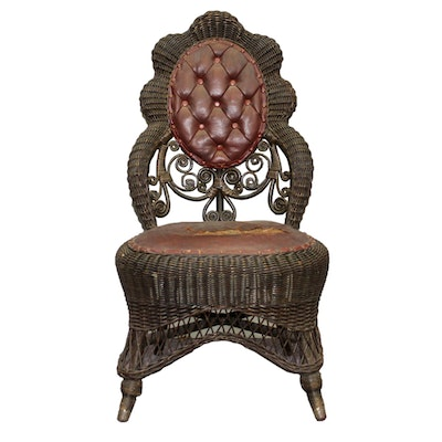 Antique Heywood-Wakefield Wicker Chair