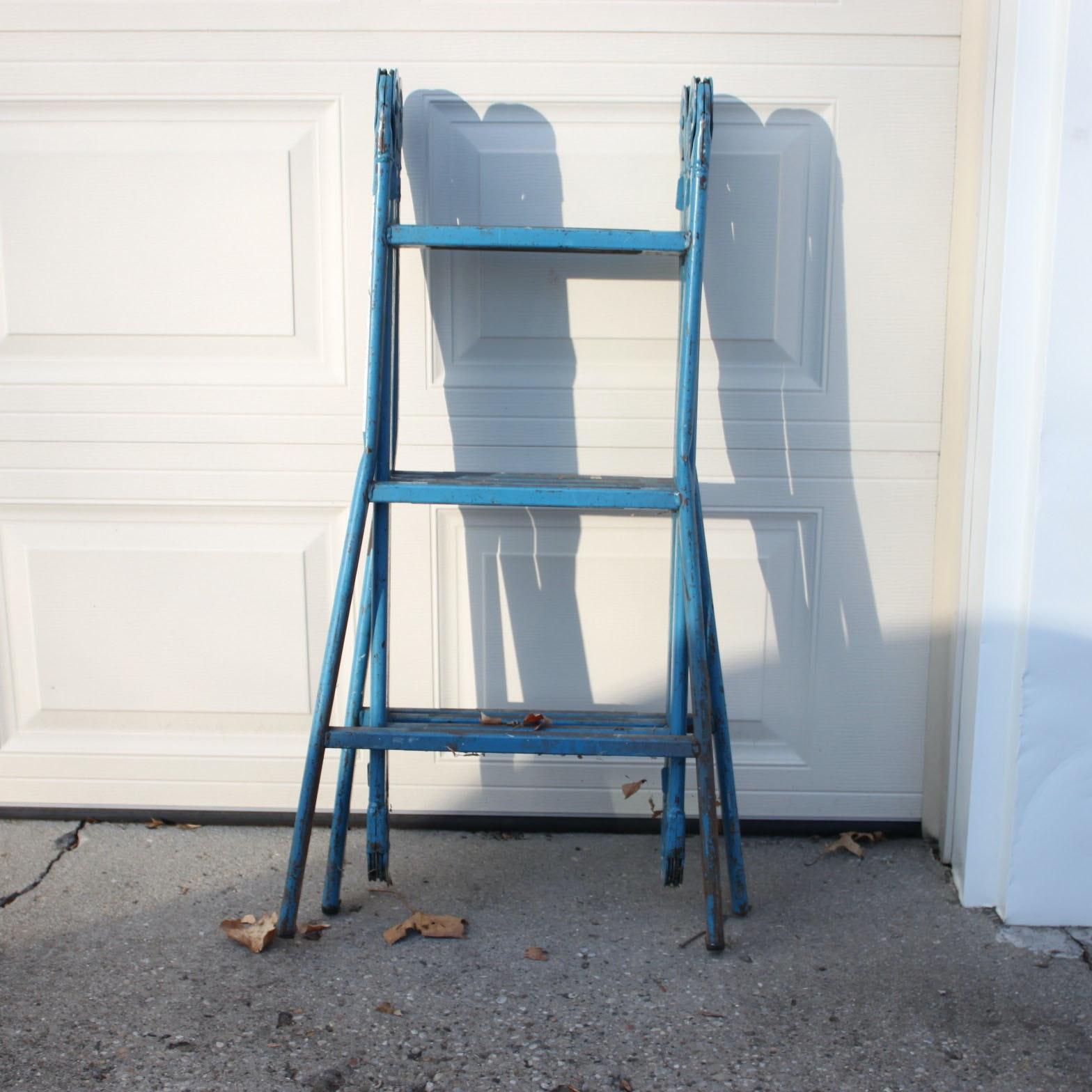 """Vintage Metal """"Versa Ladder"""" in Blue"""