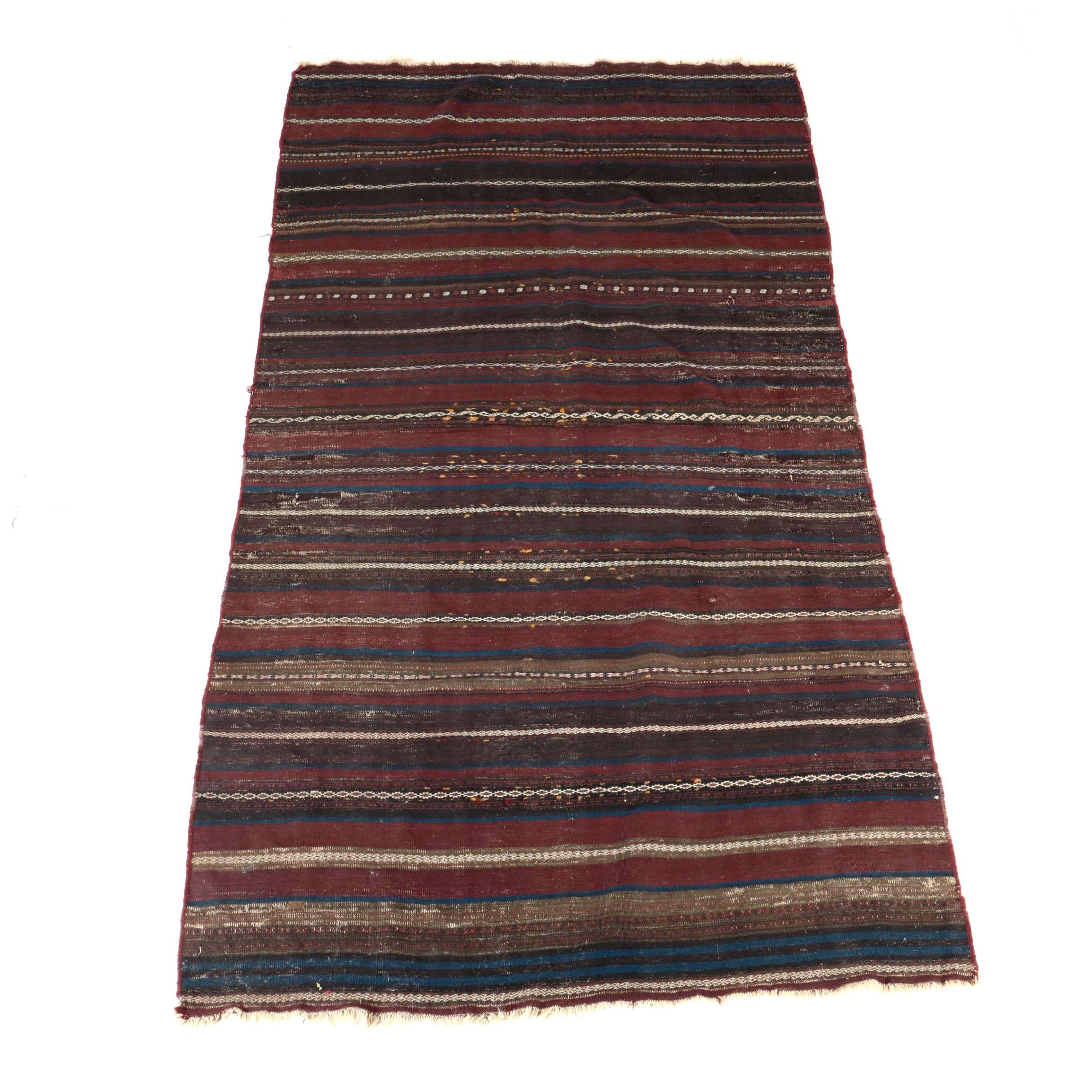 Semi-Antique Handwoven North African Area Rug
