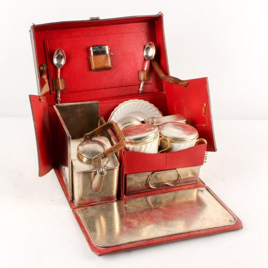 British Made Antique Traveling Tea Set