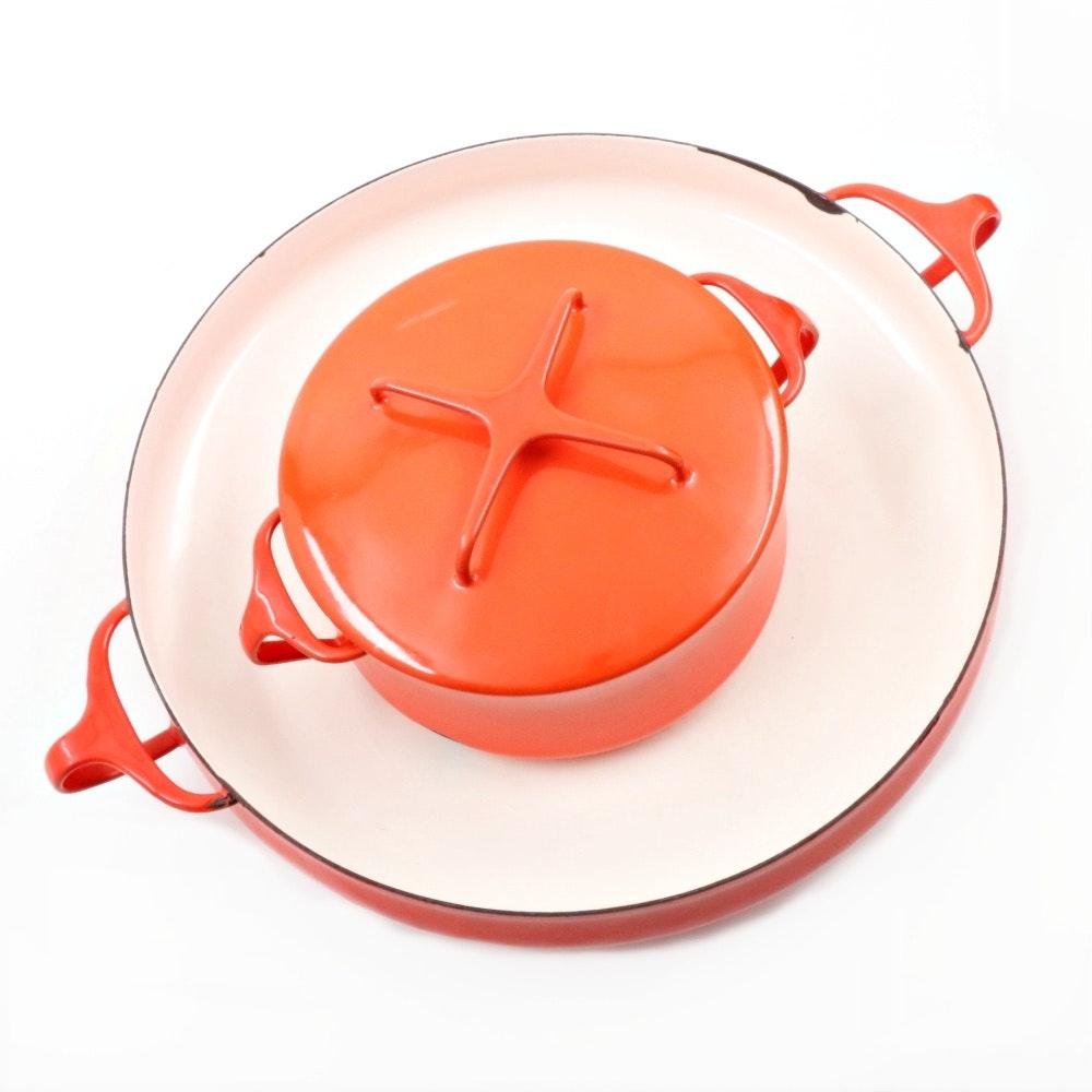 "Dansk Designs ""Kobenstyle"" Casserole Dish and Paella Pan"