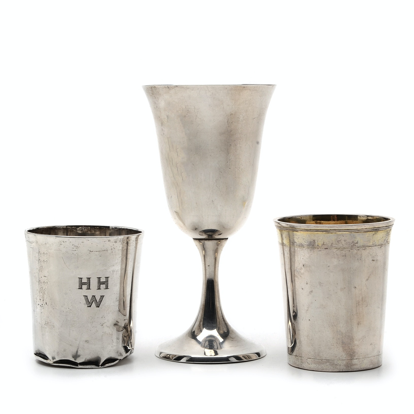 Assortment of Sterling Silver and 800 Silver Drinking Vessels