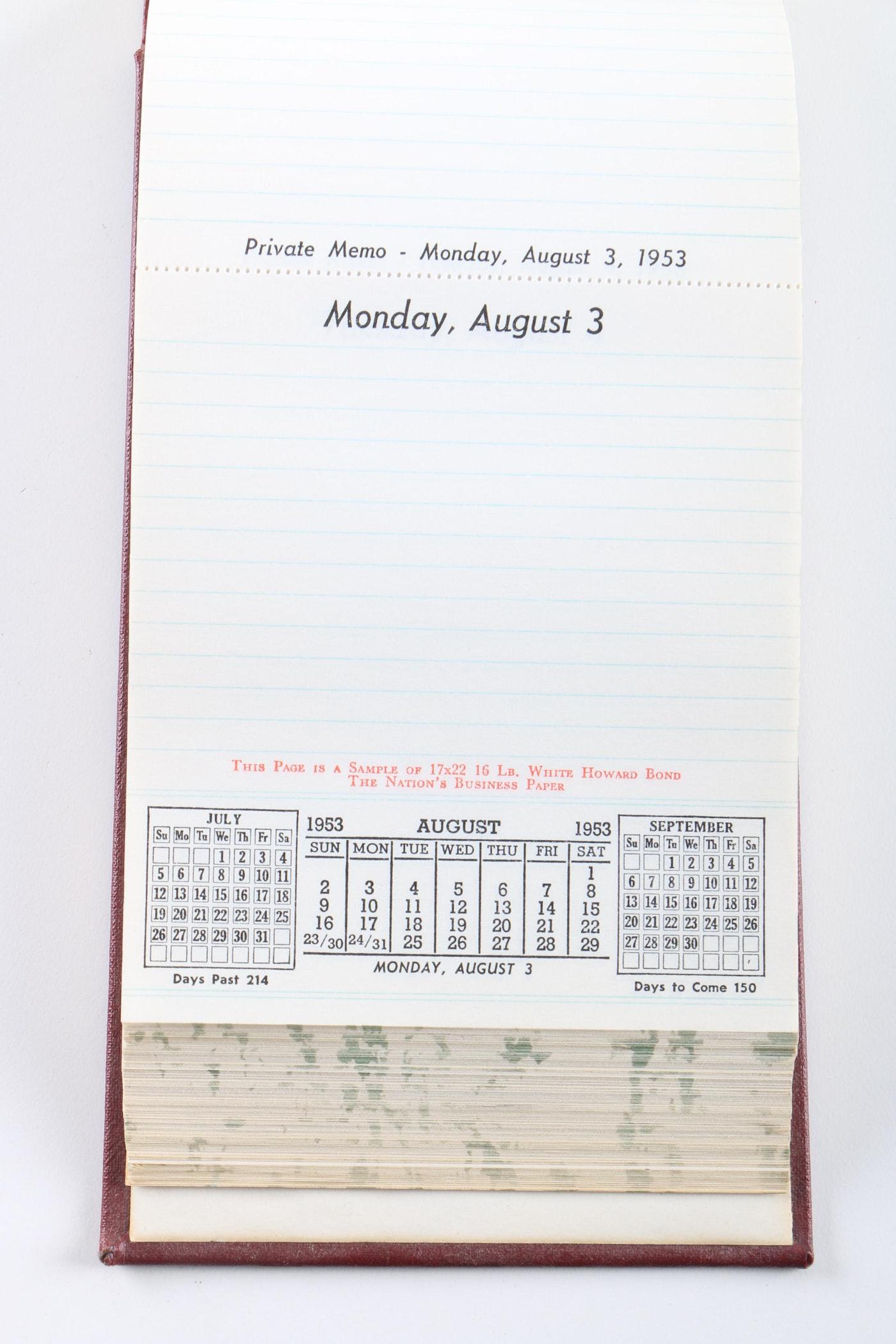 1953 Desk Calendar And 1983 Appointment Book Ebth