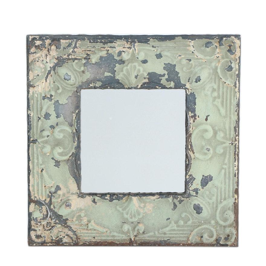 Vintage Metal Framed Wall Mirror