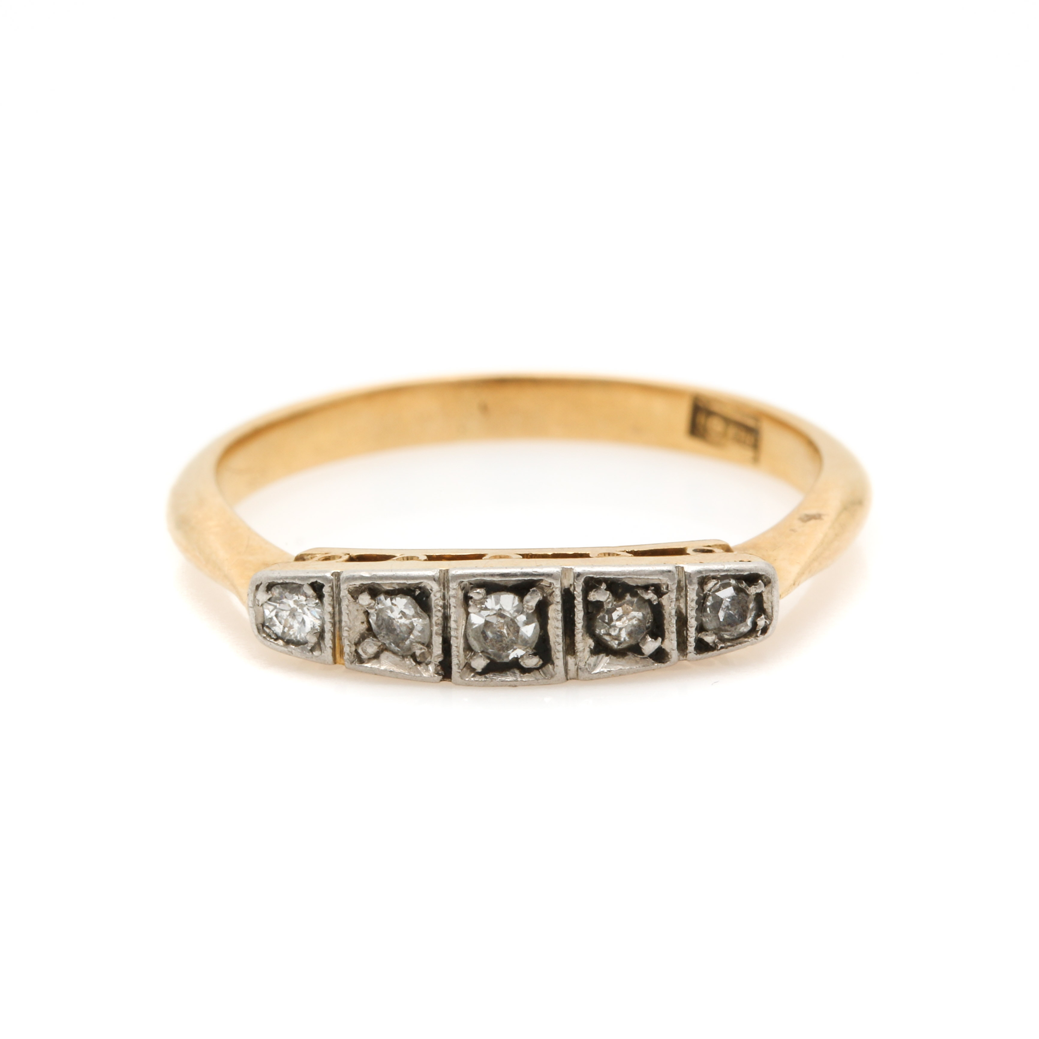 Vintage 18K Yellow Gold Diamond Ring