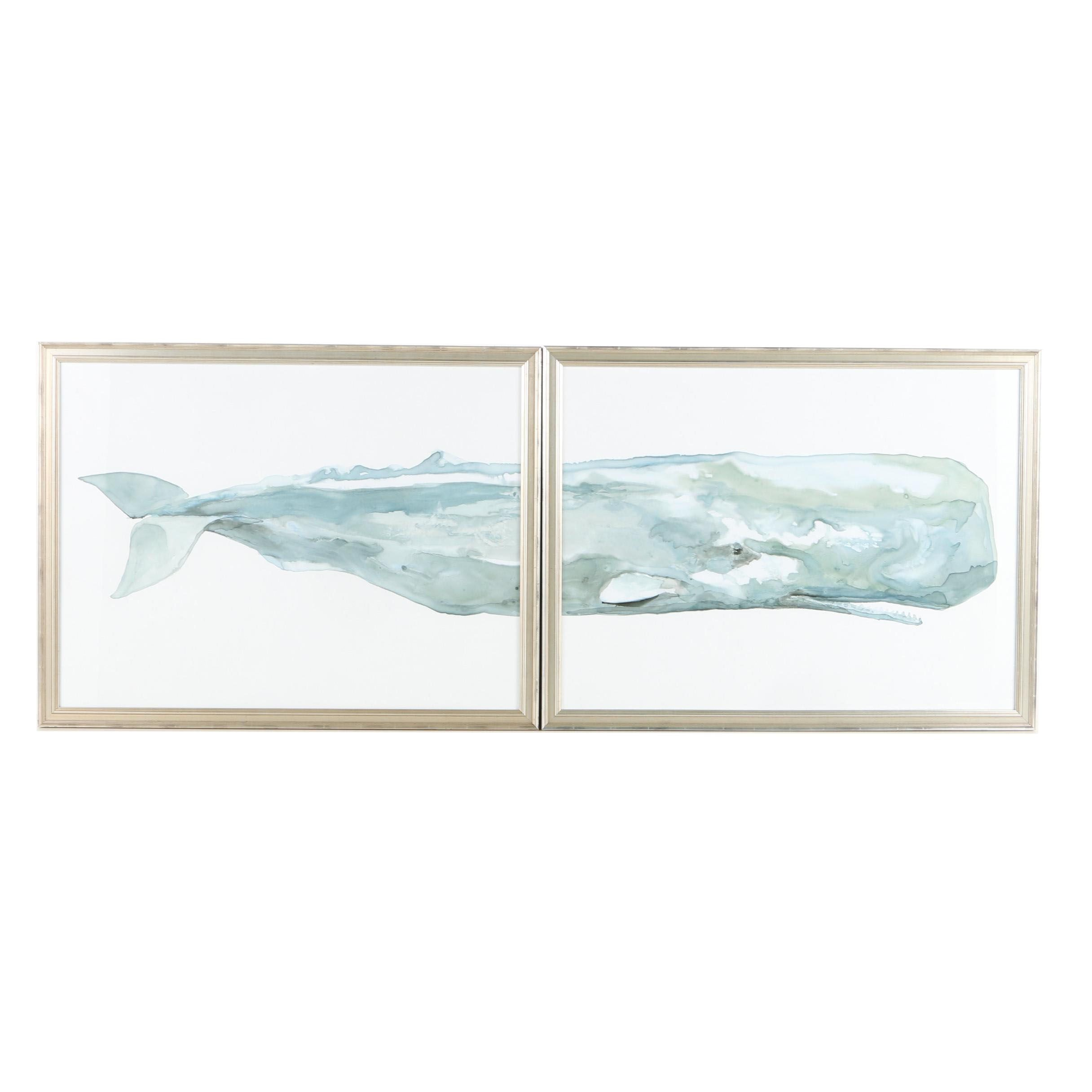 Giclee Print Diptych of a Sperm Whale