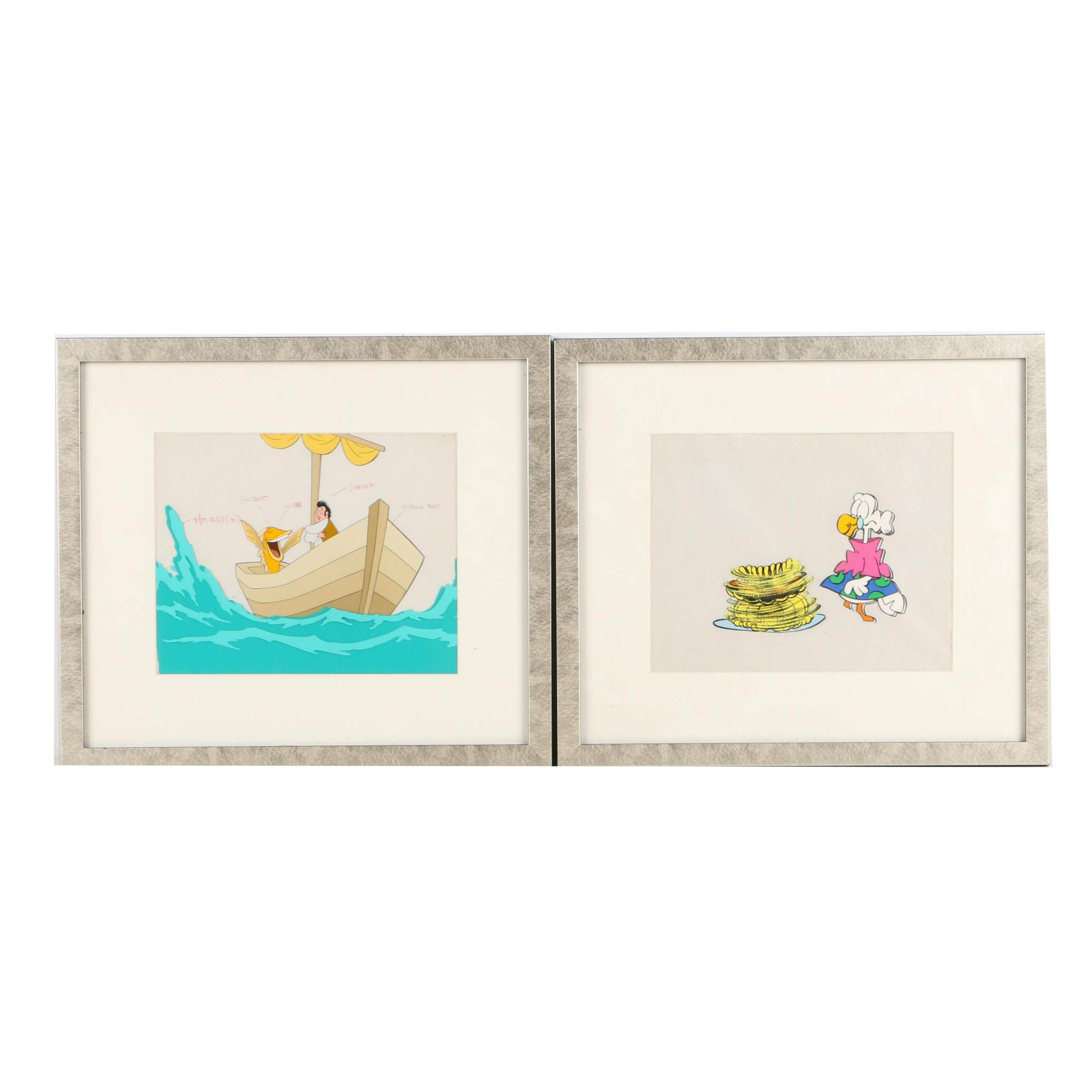 Animation Production Cels Featuring Mother Goose and Grimm