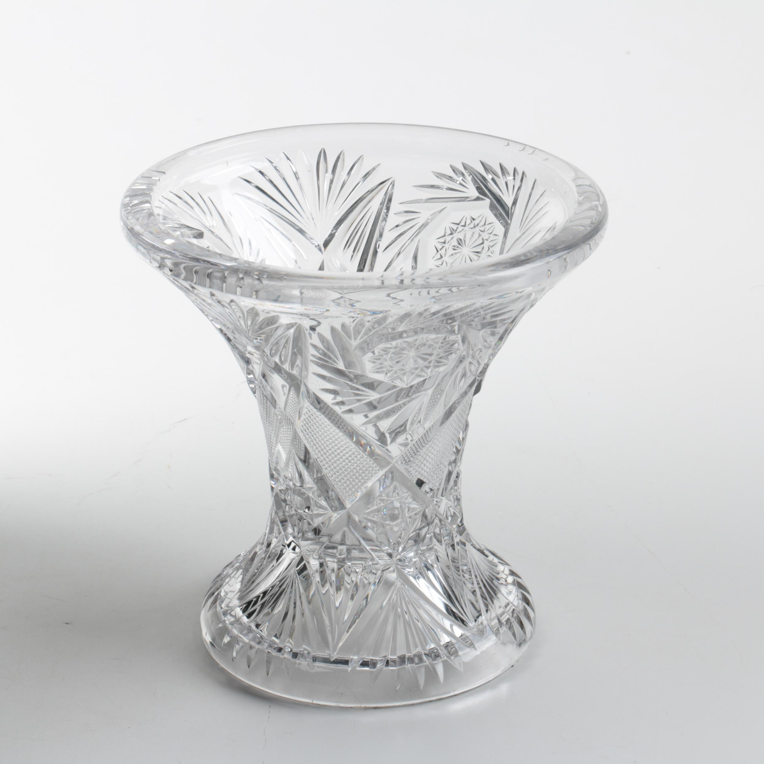 "Heisey ""Pinwheel and Fan"" Punch Bowl Stand, Circa 1910-1925"