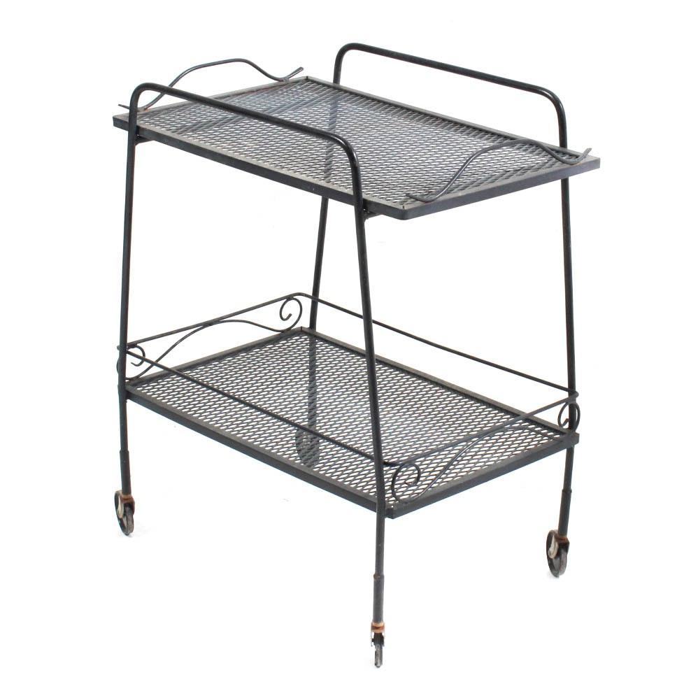 Wrought Iron Patio Cart