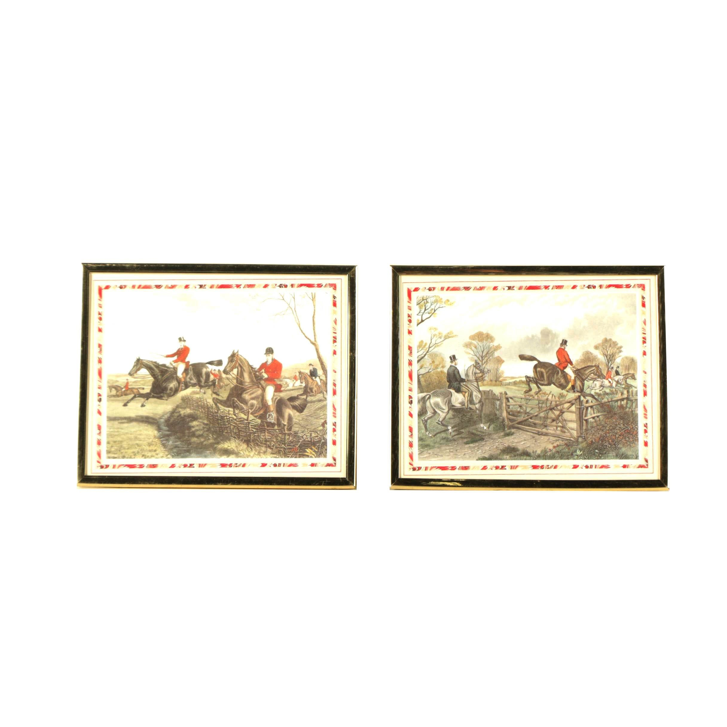 Offset Lithographs After Sheldon Williams and J. Sturgess of Hunt Scenes