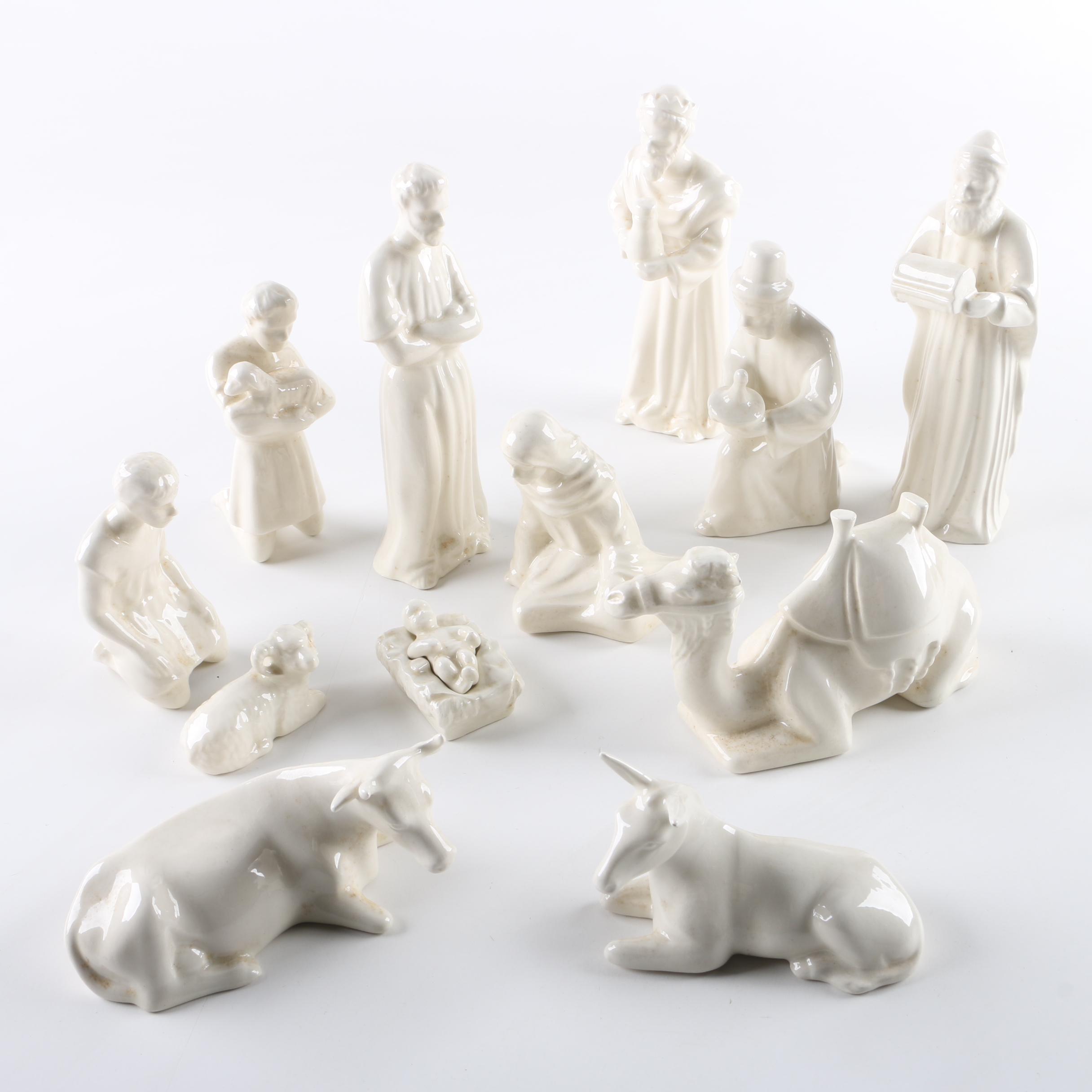 B.T. Pavone Vintage Ceramic Nativity