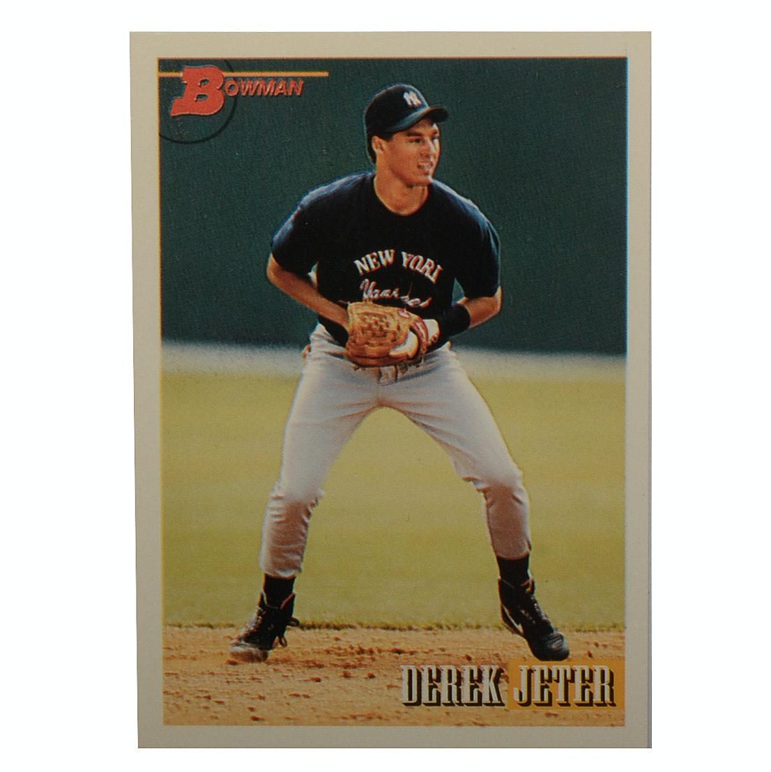 1993 Derek Jeter Yankees Bowman Rookie Baseball Card