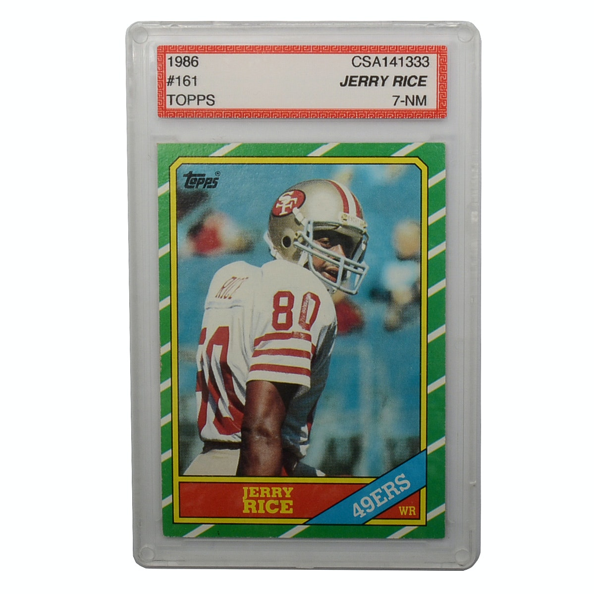 1986 Jerry Rice Professionally Graded Rookie Card