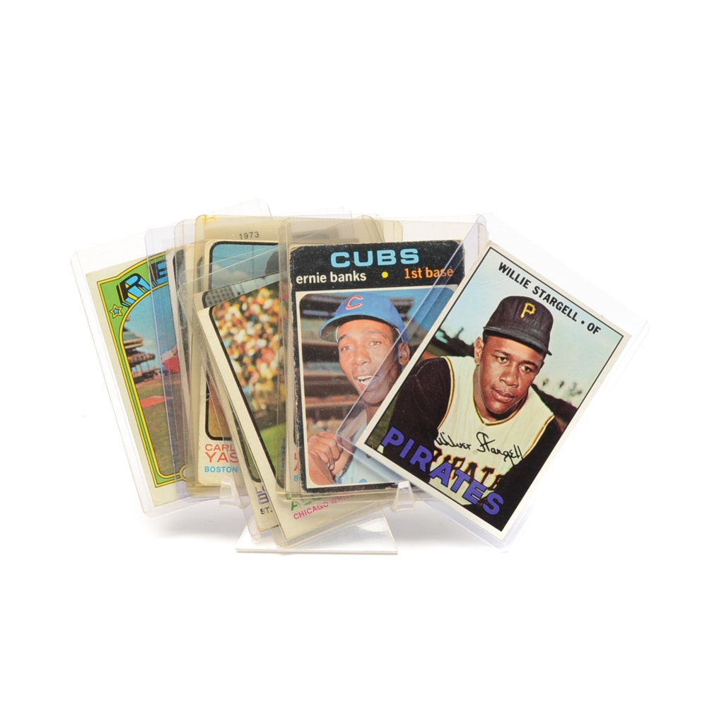 Assorted Vintage 1960s-1970s Topps Baseball Cards