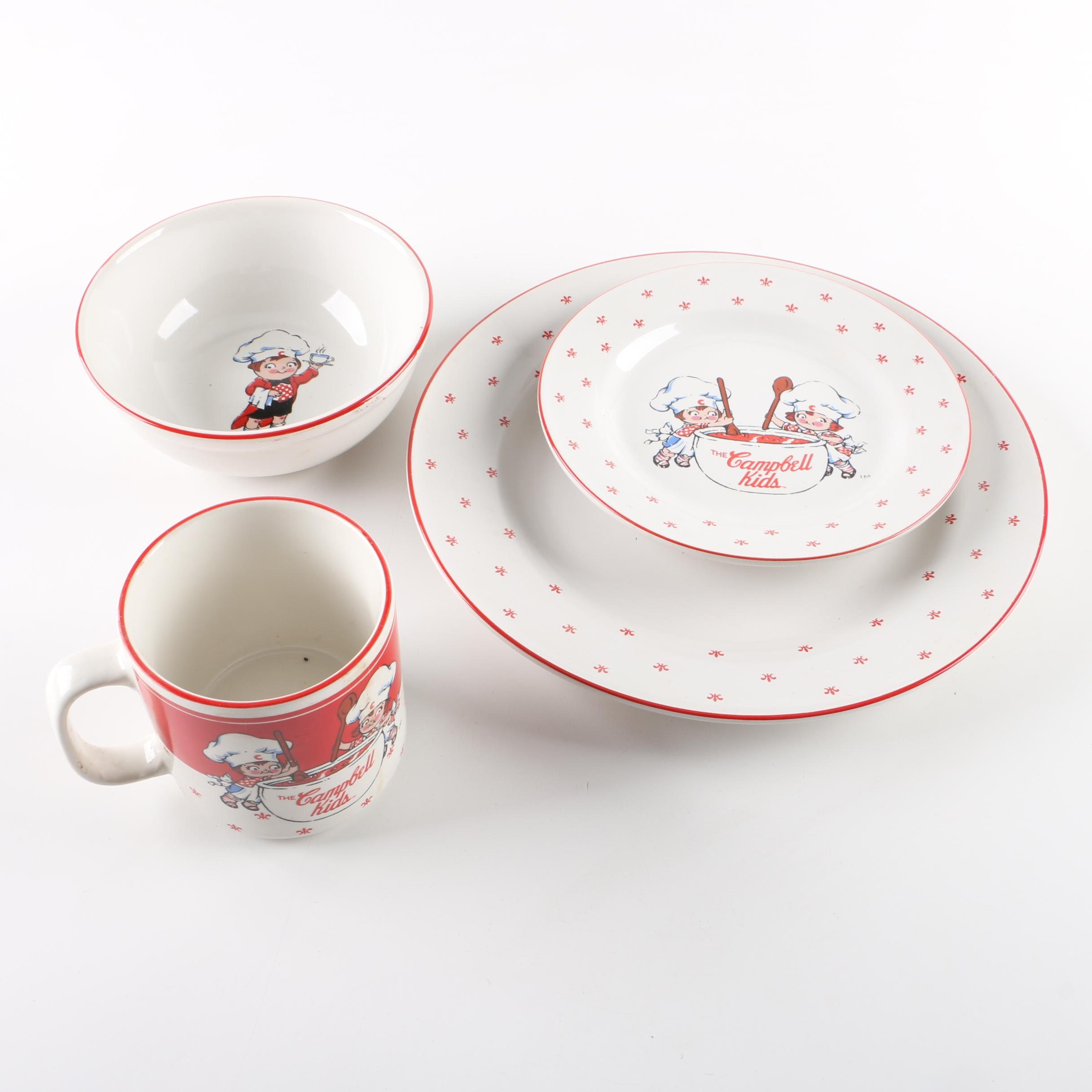 4 Pc. Campbell's Soup Dinnerware Set