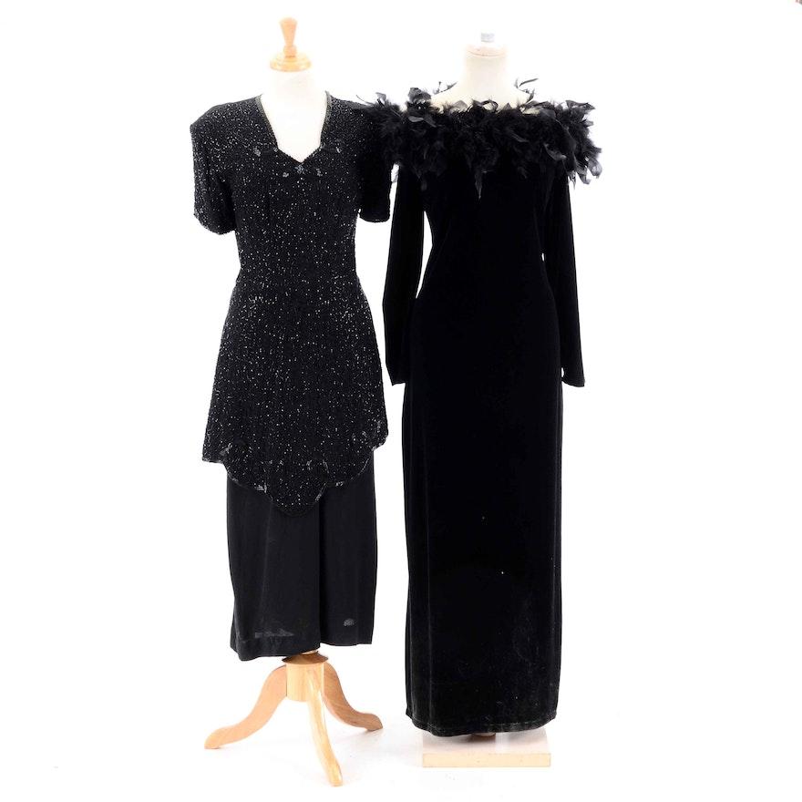 9532dedba17 Vintage Black Evening Dresses   EBTH
