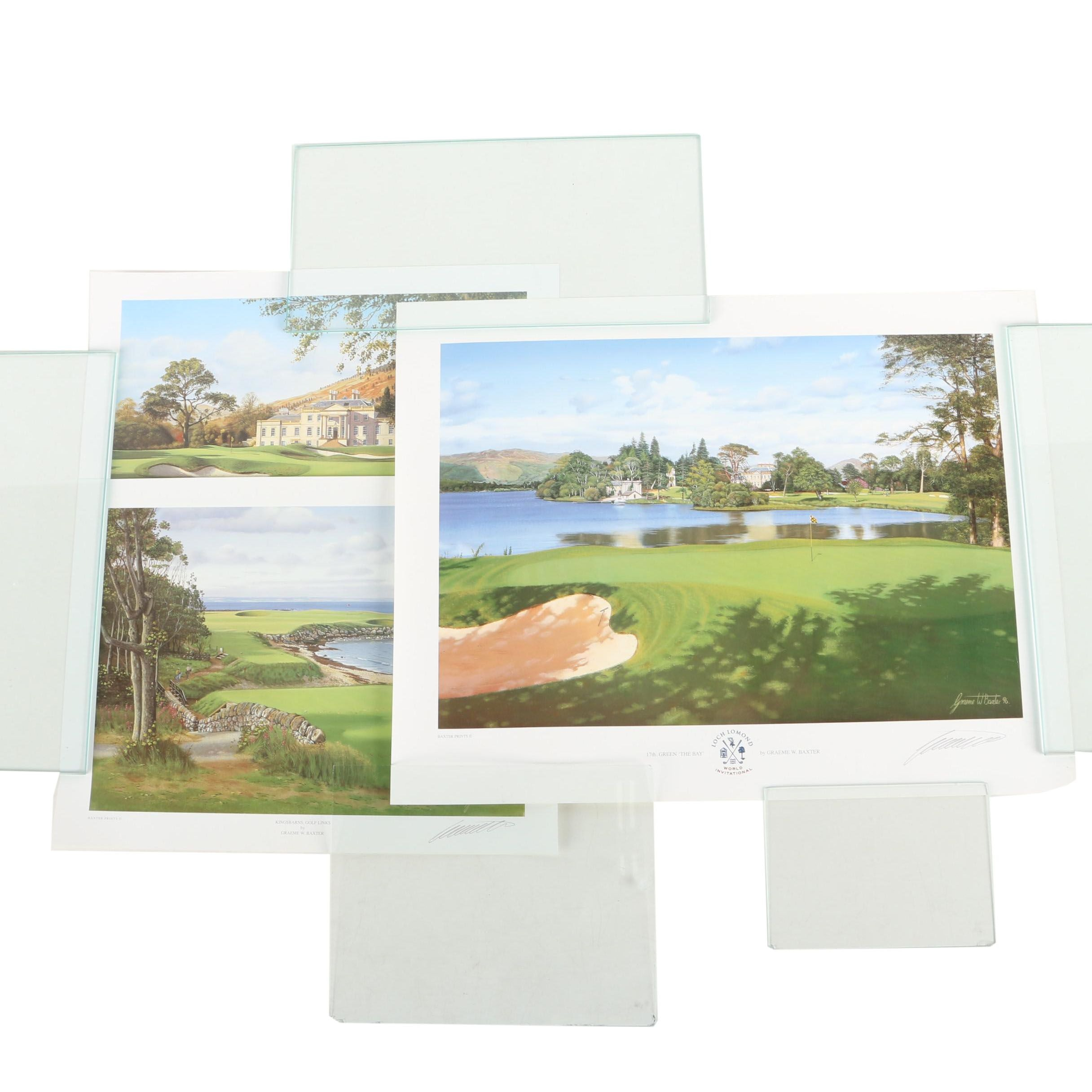 Graeme W. Baxter Offset Lithographs on Paper of Golf Courses