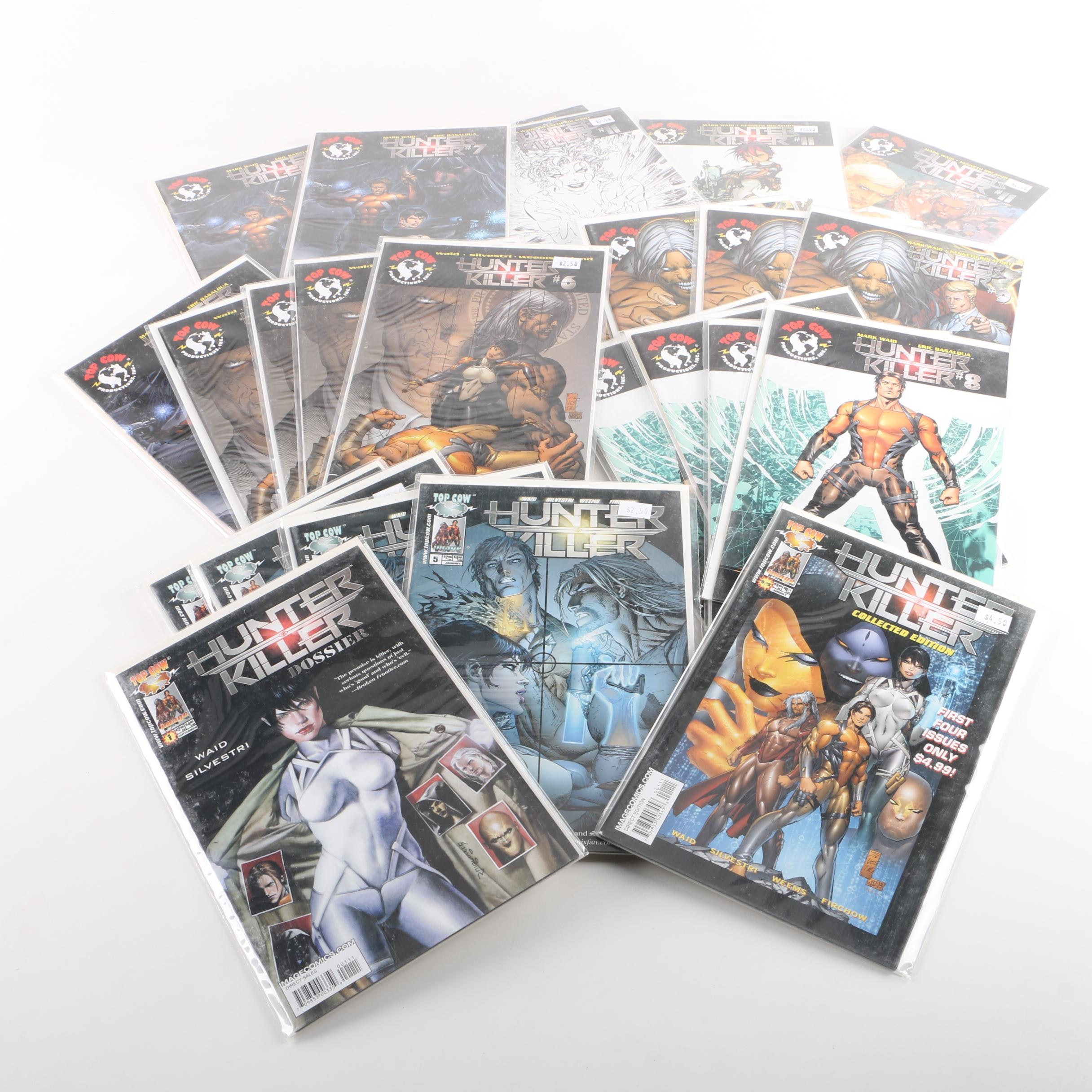 """Collection of Top Cow """"Hunter Killer"""" Comic Books"""