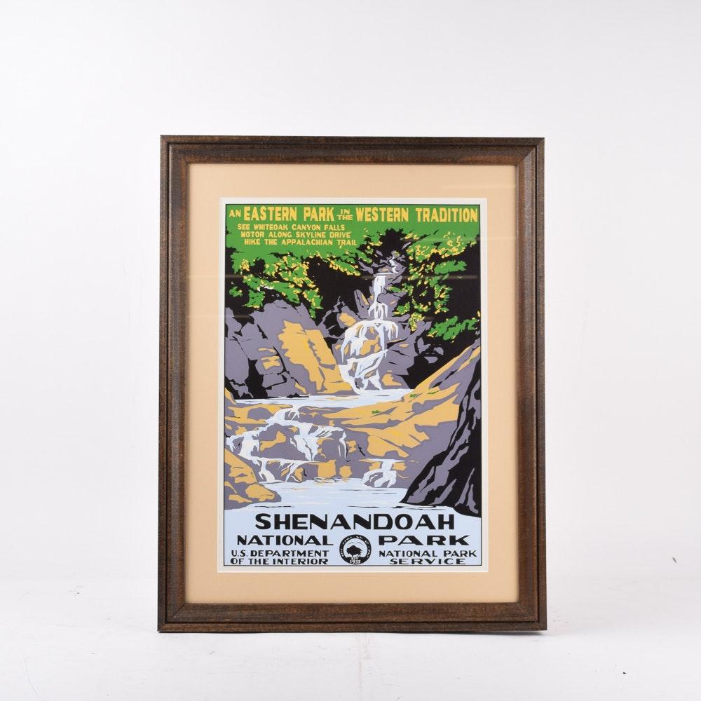 Shenandoah National Park Offset Lithograph Poster